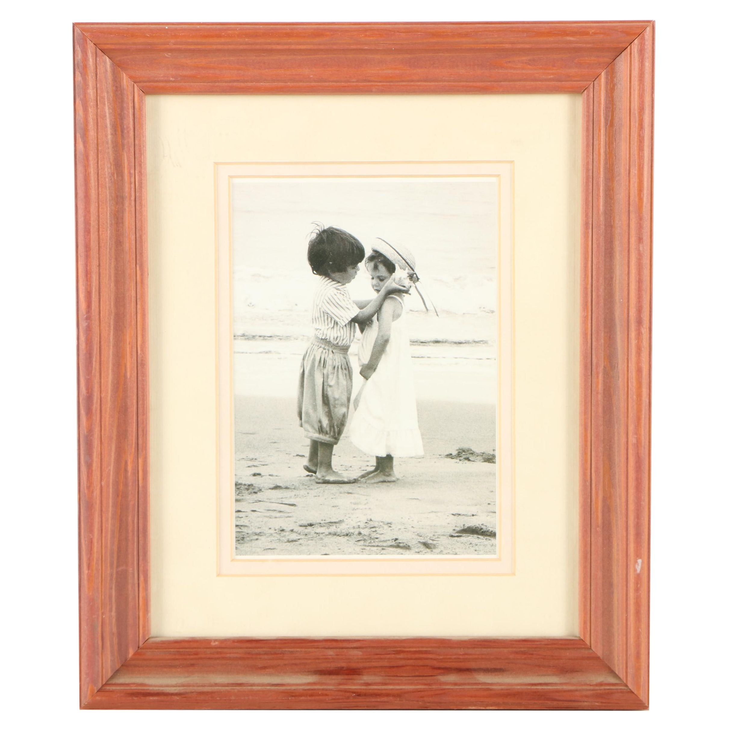 Offset Lithograph of Children on a Beach