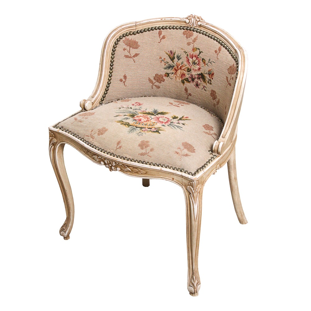 French Provincial Style Vanity Chair