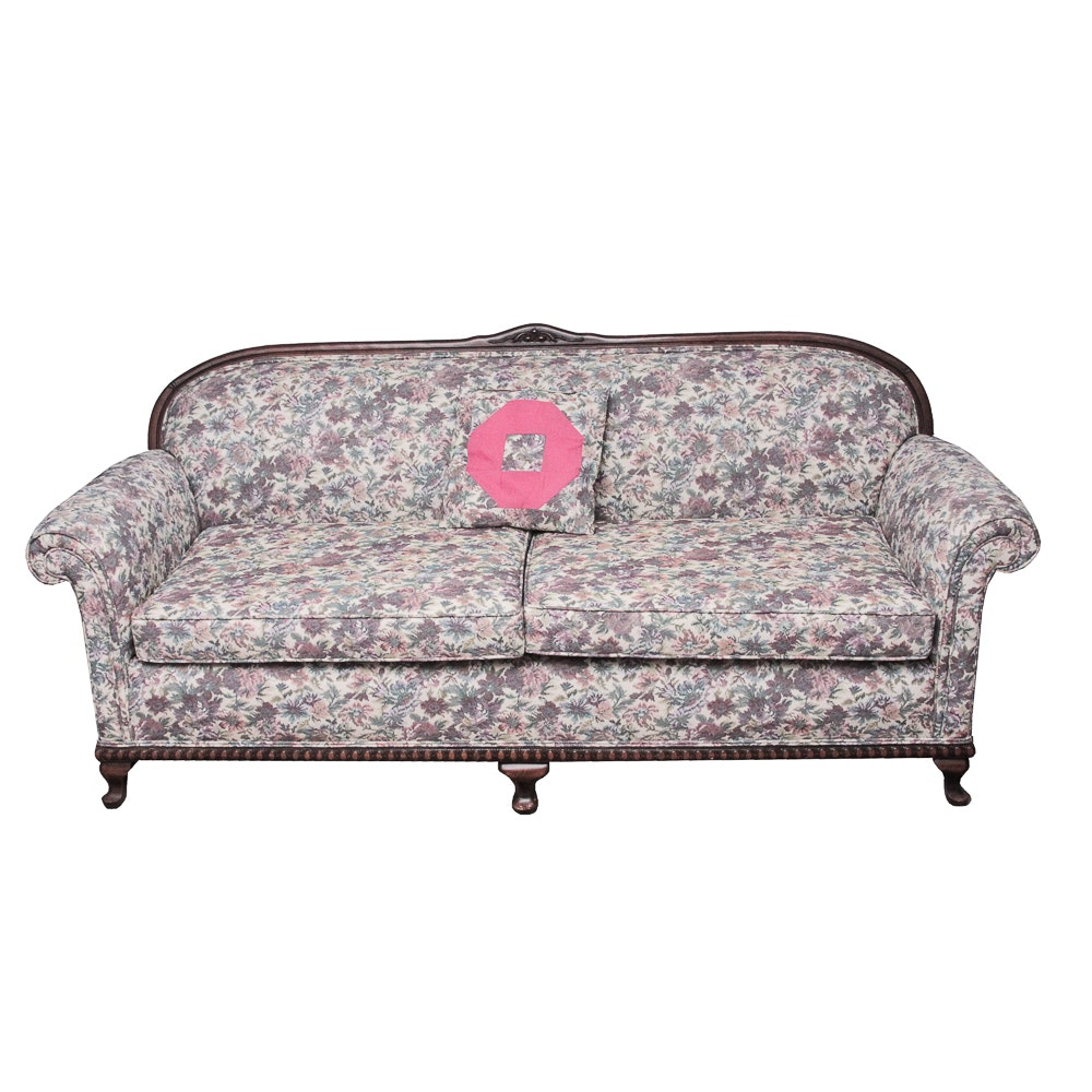 Vintage Queen Anne Style Settee