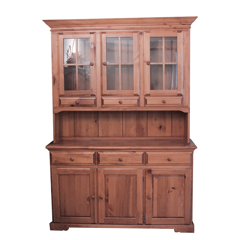 Country Style Pine Hutch