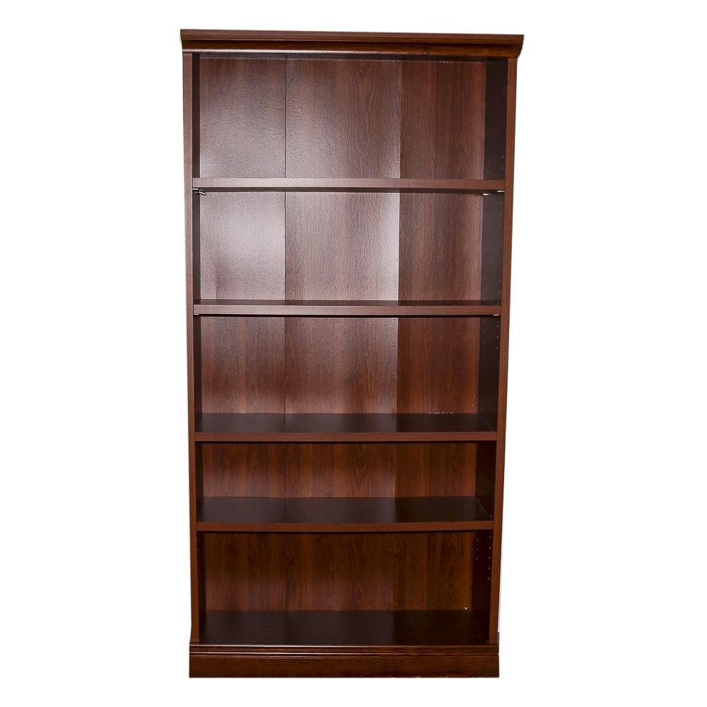 Five Shelf Wooden Bookcase