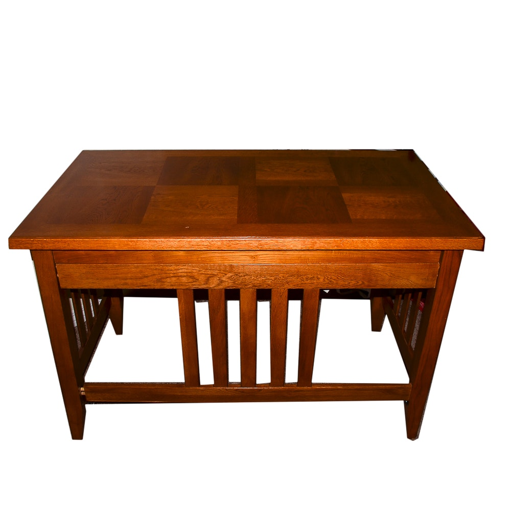 Mission Style Oak Writing Desk