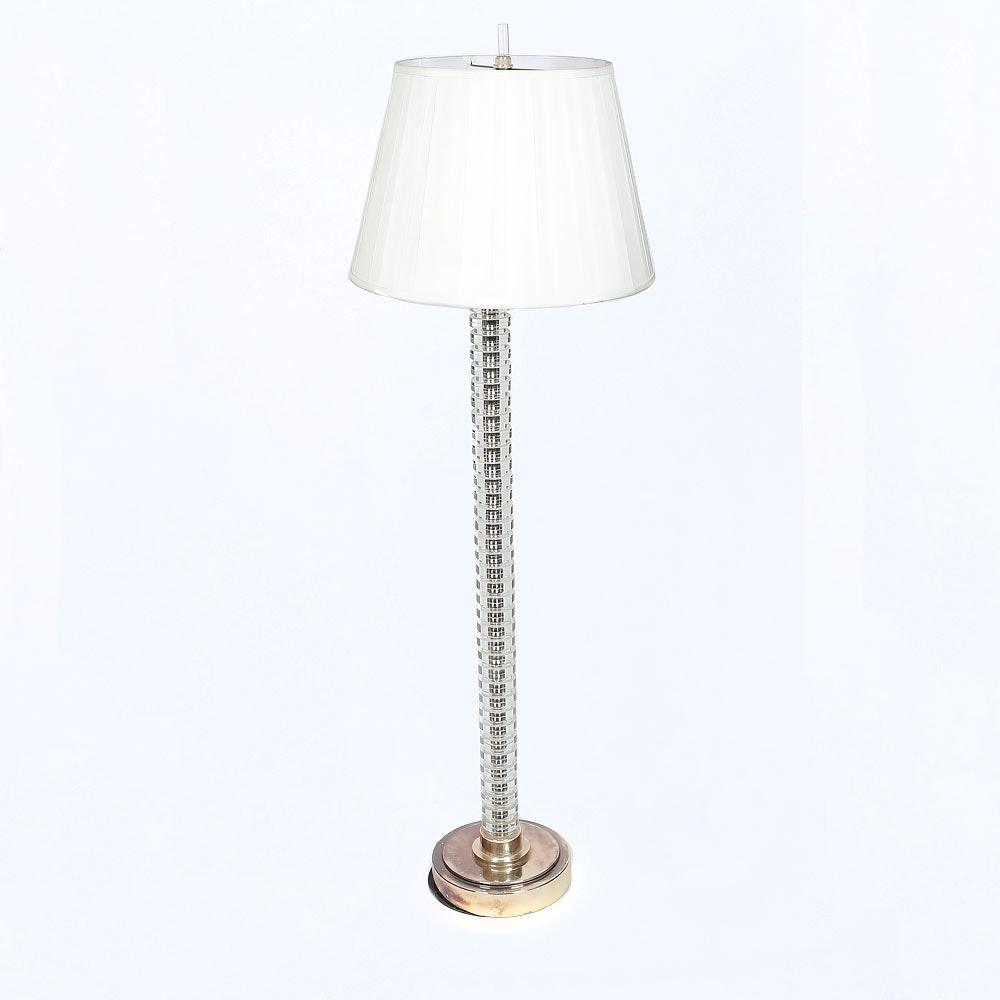 Spiral Glass  Floor Lamp