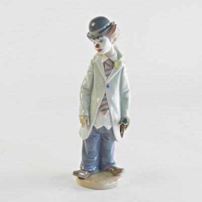 """Lladró """"Circus Sam Clown"""" Porcelain Figurine"""