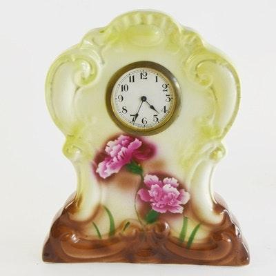 Swiss Made Porcelain Mantle Clock