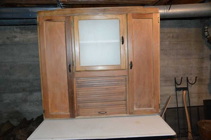 Vintage Hoosier Cabinet From Marsh Funiture Company Ebth