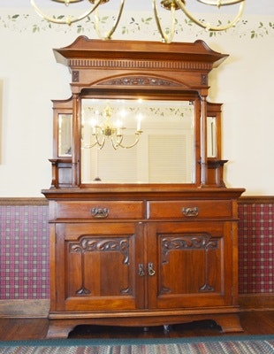Harrison & Gibson Arts & Crafts Style Sideboard and Hutch