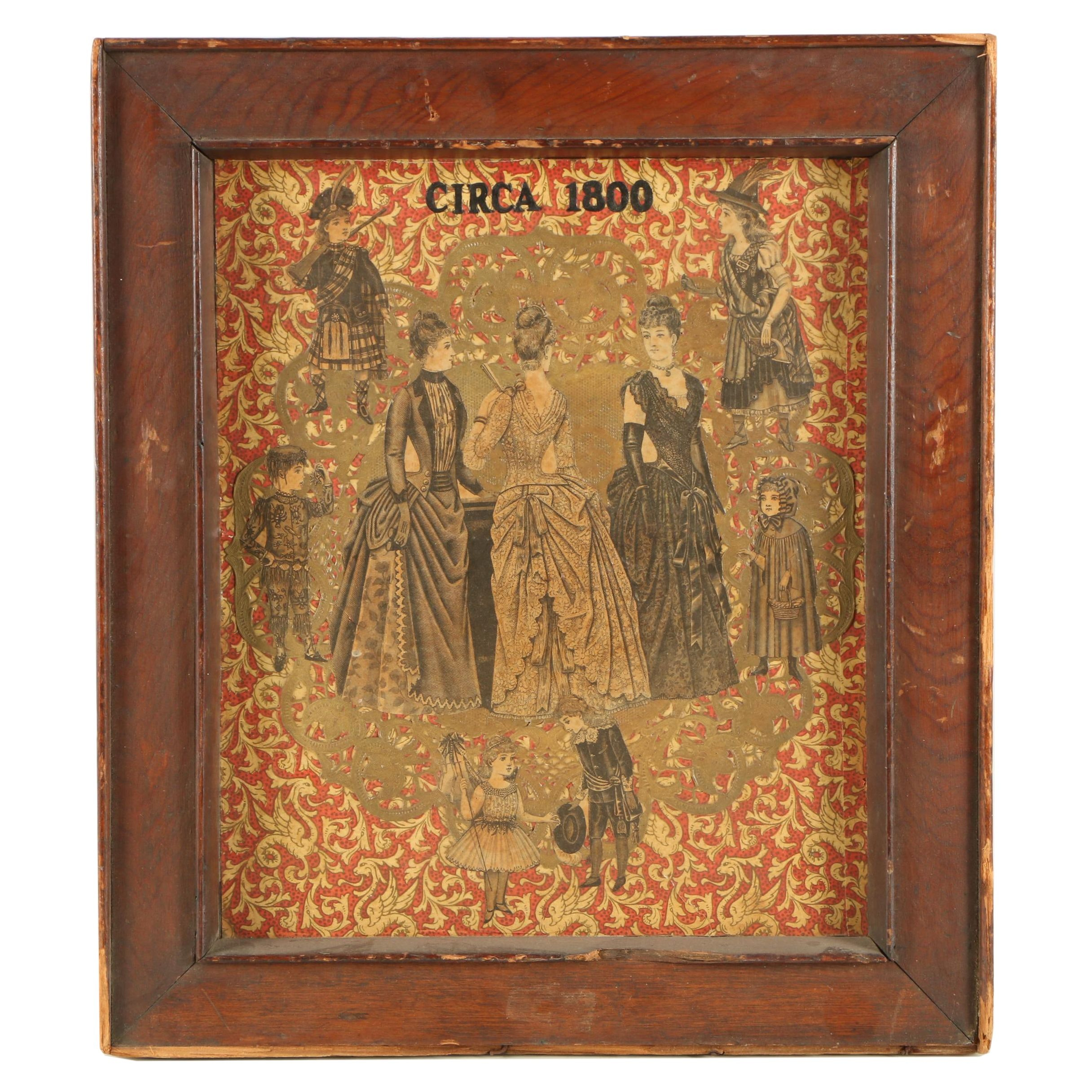 """Collage Featuring Fashion Plate Wood Engravings """"Circa 1800"""""""
