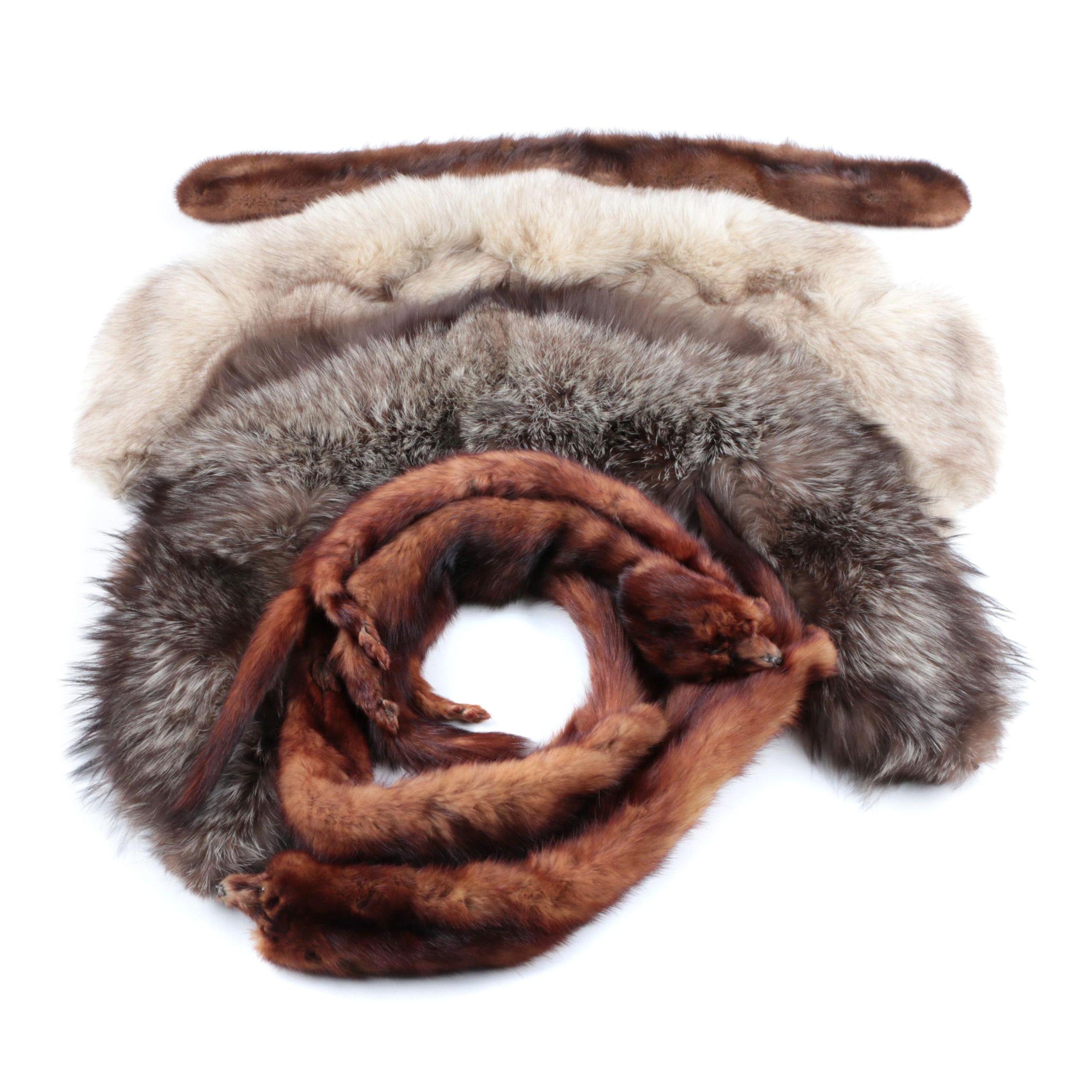 Assorted Vintage Fur Collars