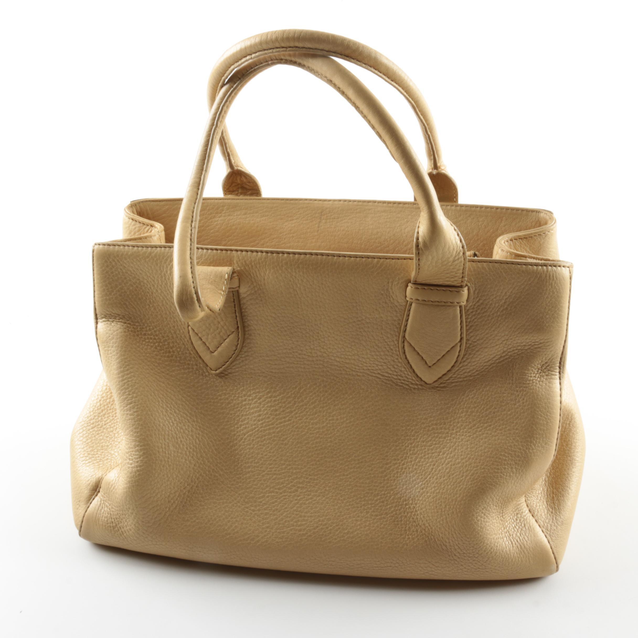 Cole Haan Village Pebbled Leather Handbag
