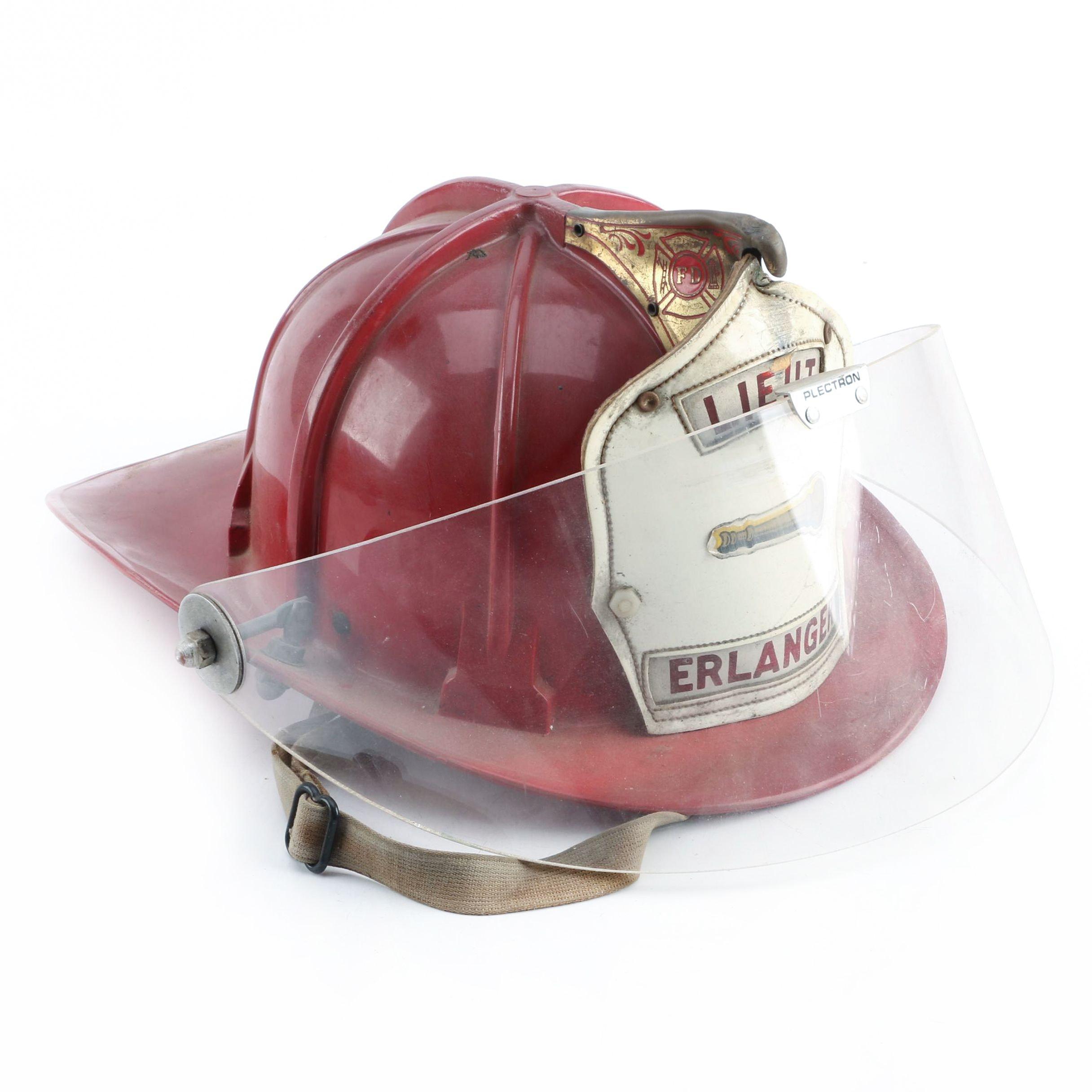 Vintage Fireman's Lieutenant Helmet