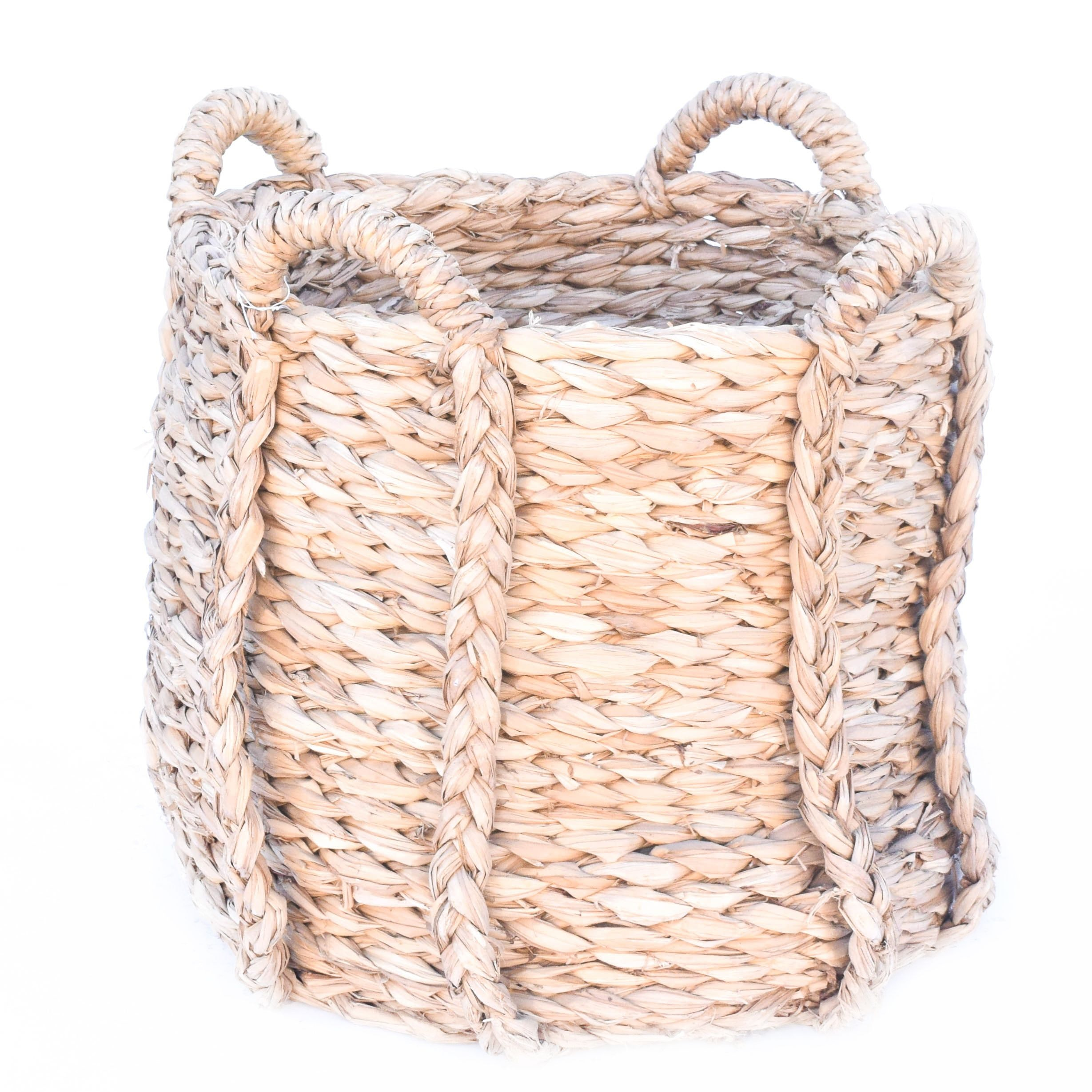 Restoration Hardware Woven Four Handle Seagrass Basket