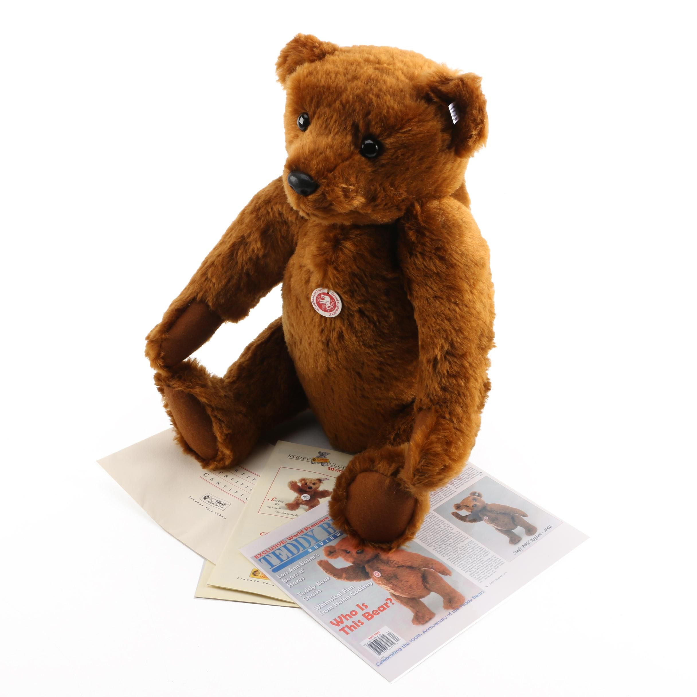 2002 Steiff 100th Anniversary Plush Teddy Bear