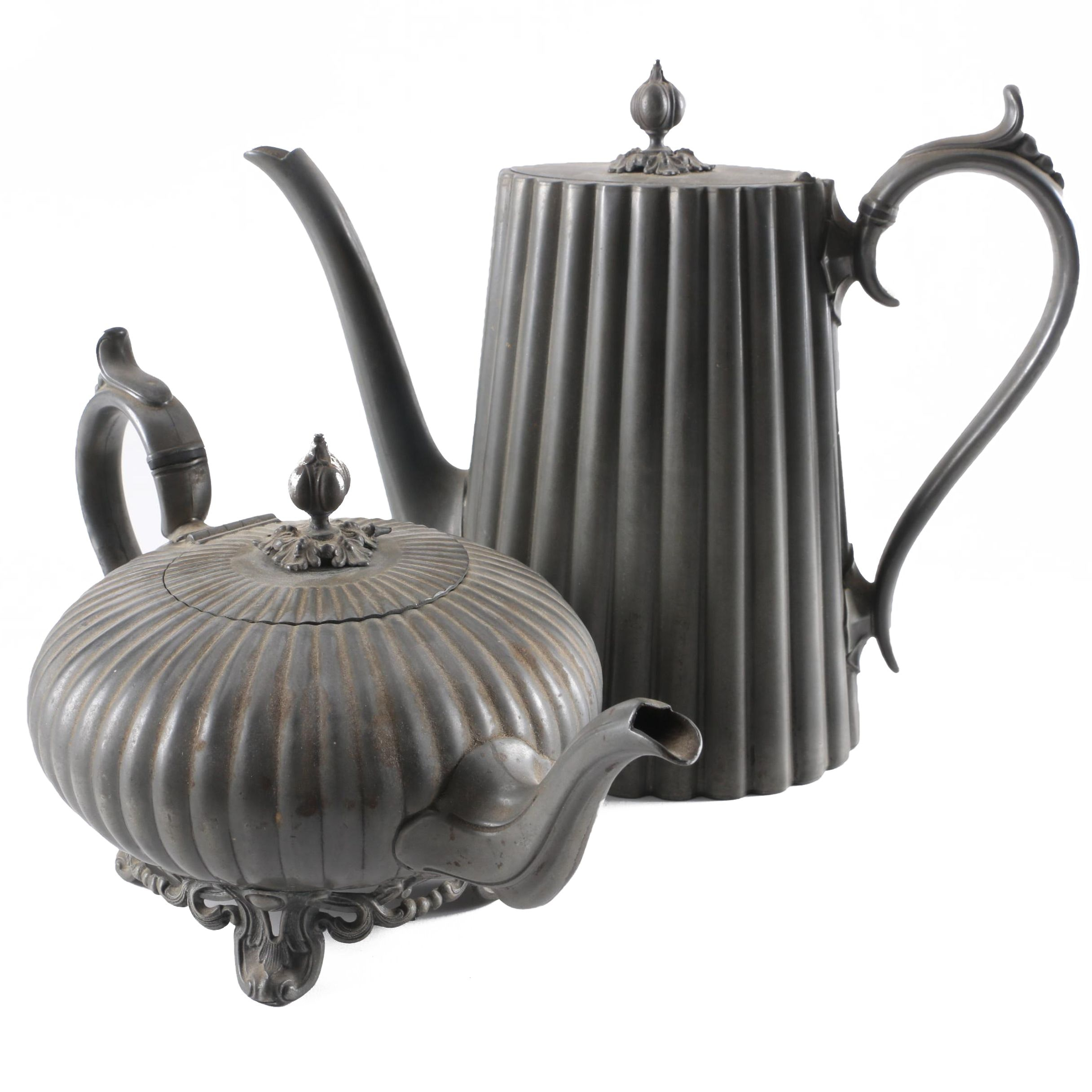 Philip Ashberry & Sons Silver-Plated Teapot and Coffee Pot