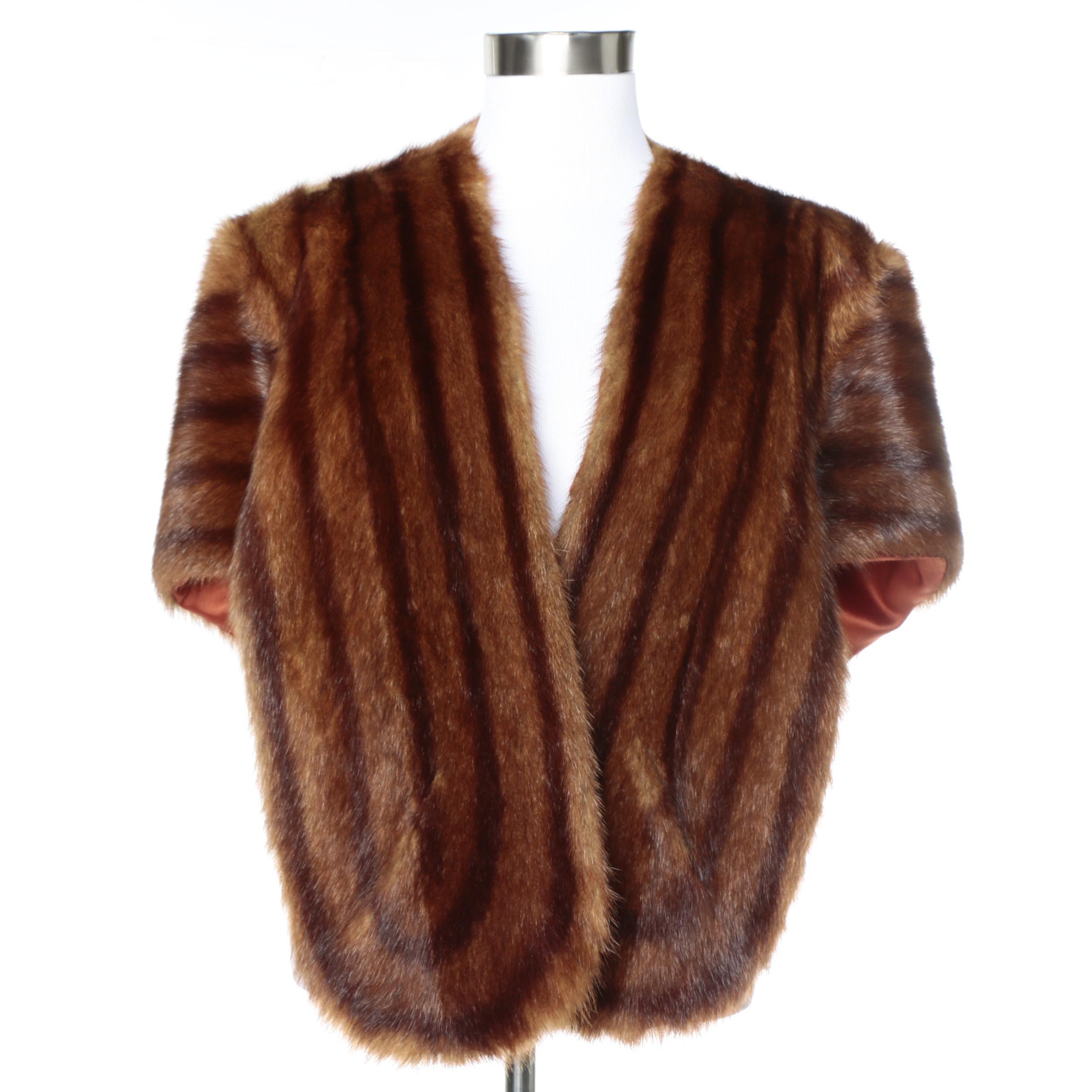 Vintage Marmot Fur Stole