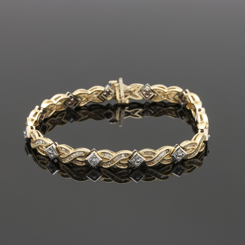 14K Two Tone Gold 2.47 CTW Diamond Bracelet