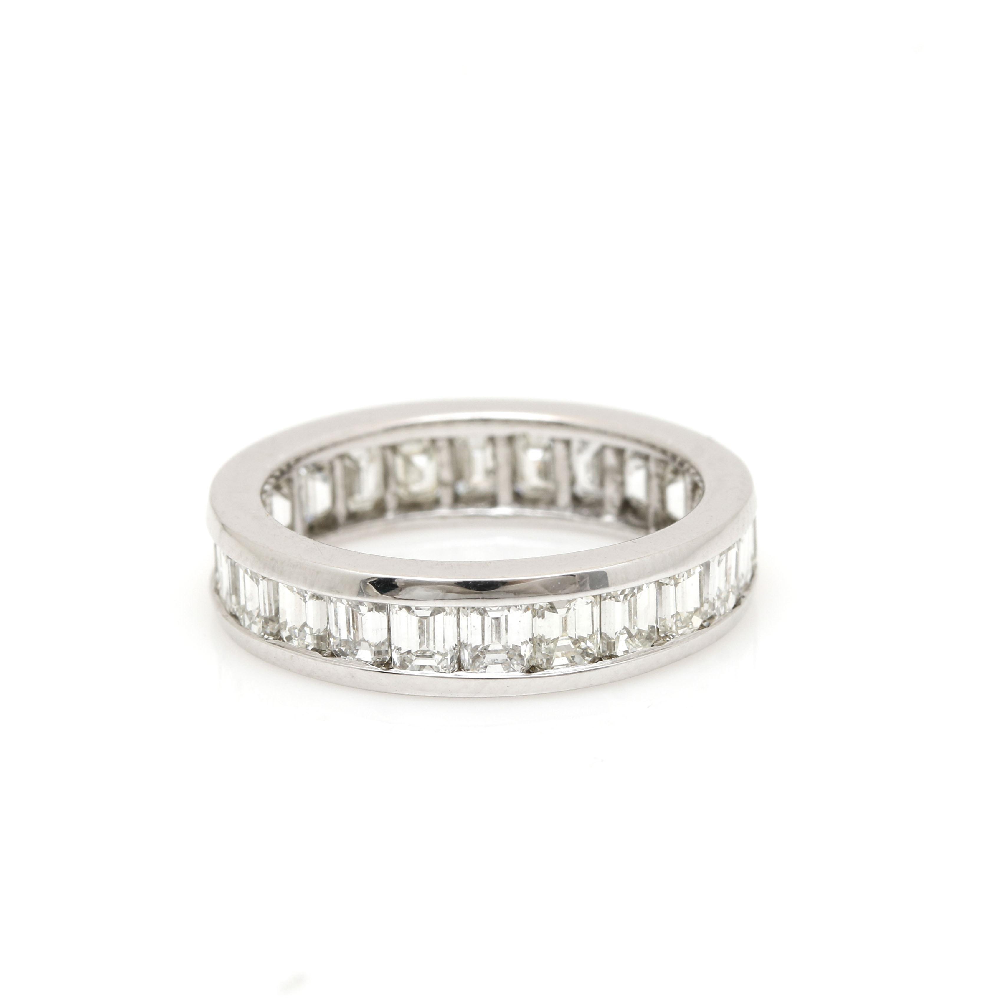 14K White Gold 2.98 CTW Diamond Eternity Ring