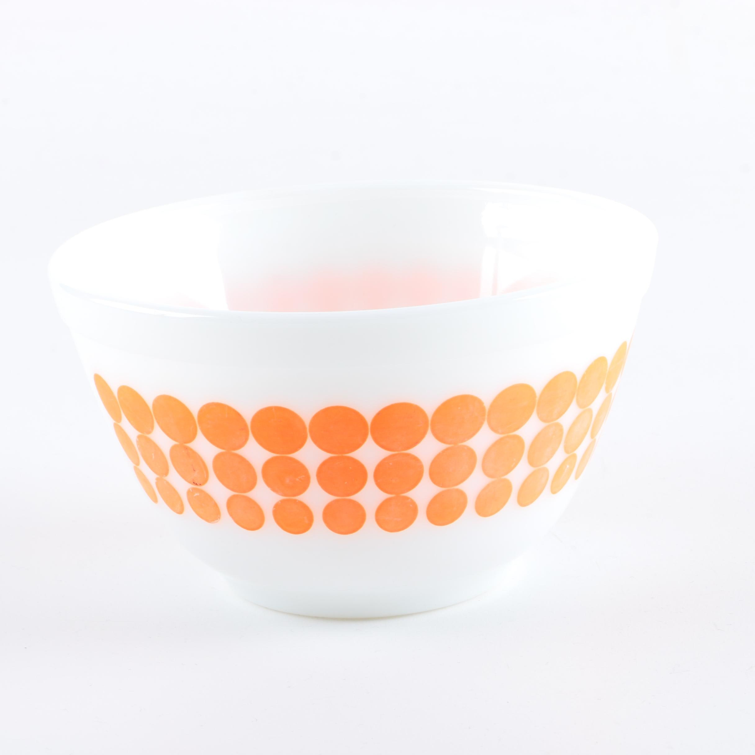 "Vintage Pyrex ""New Dots"" Mixing Bowl"