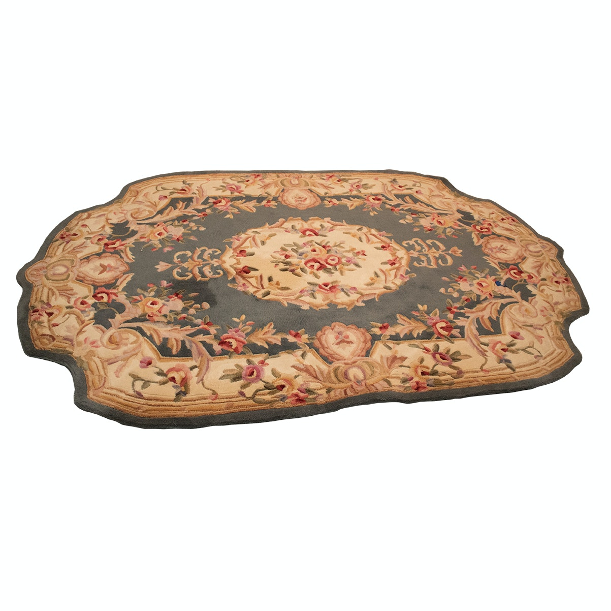 "Tufted Chinese Royal Palace ""Heathcliff"" Carved Wool Area Rug"