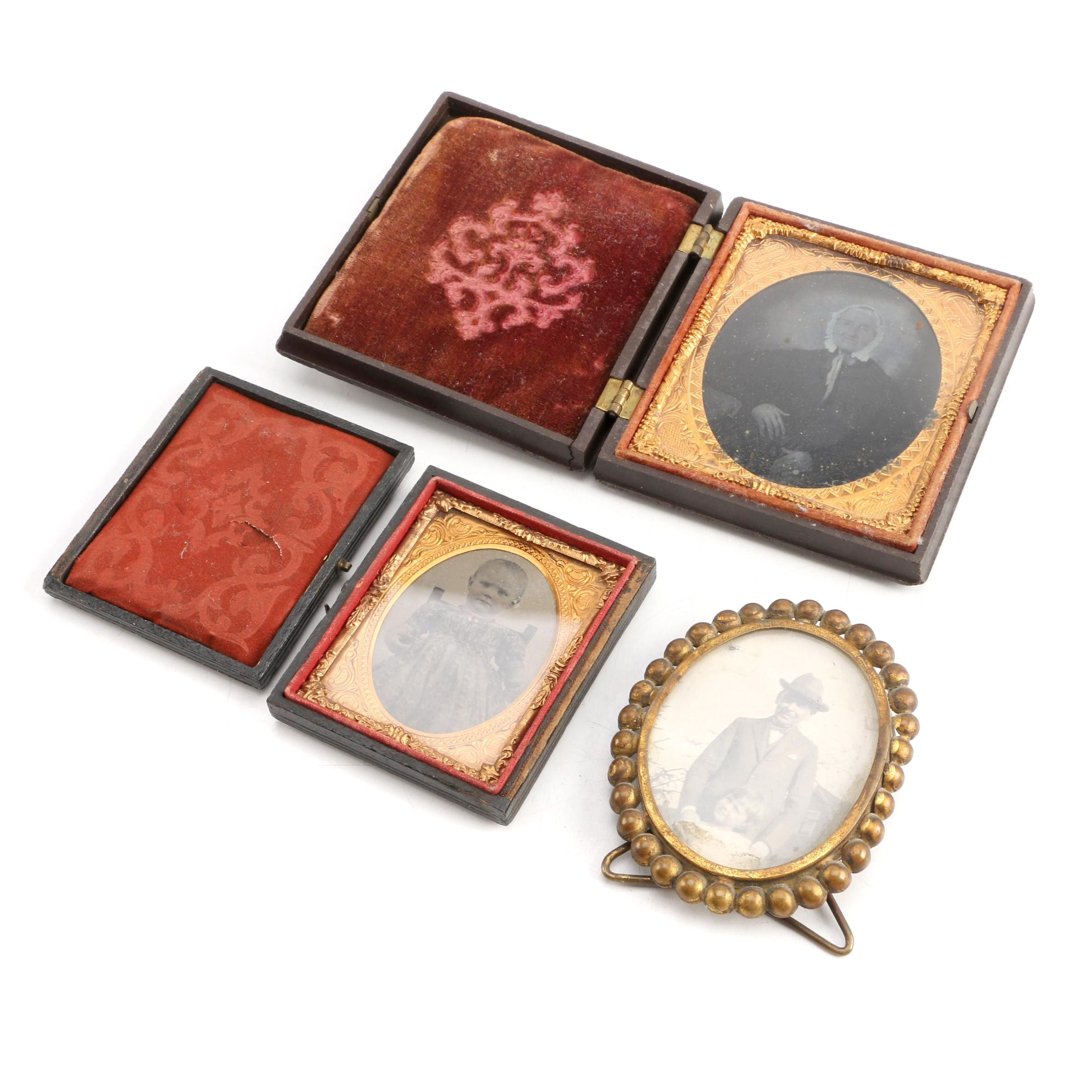 Antique Photographs with Cases