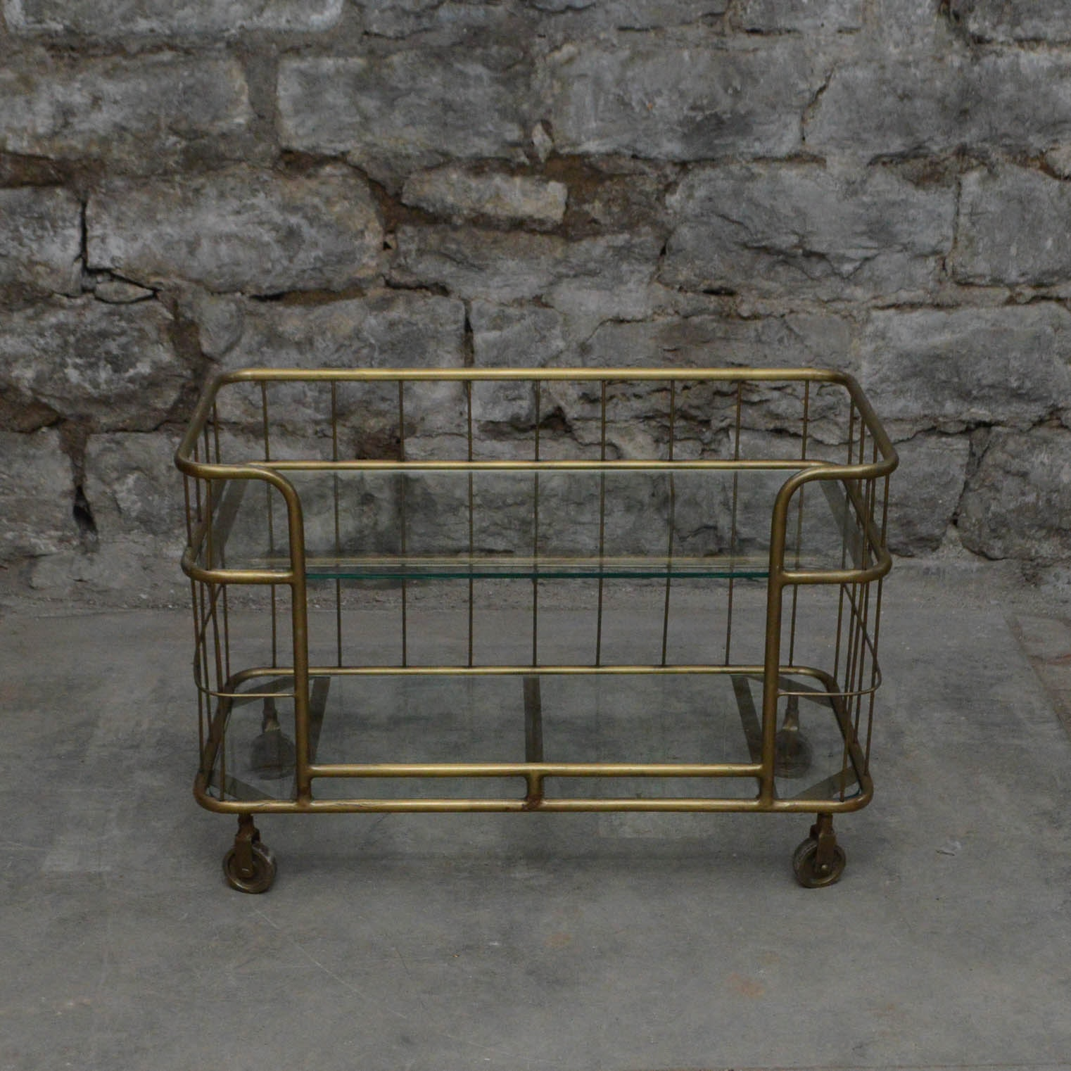 Metal And Glass Bar Cart