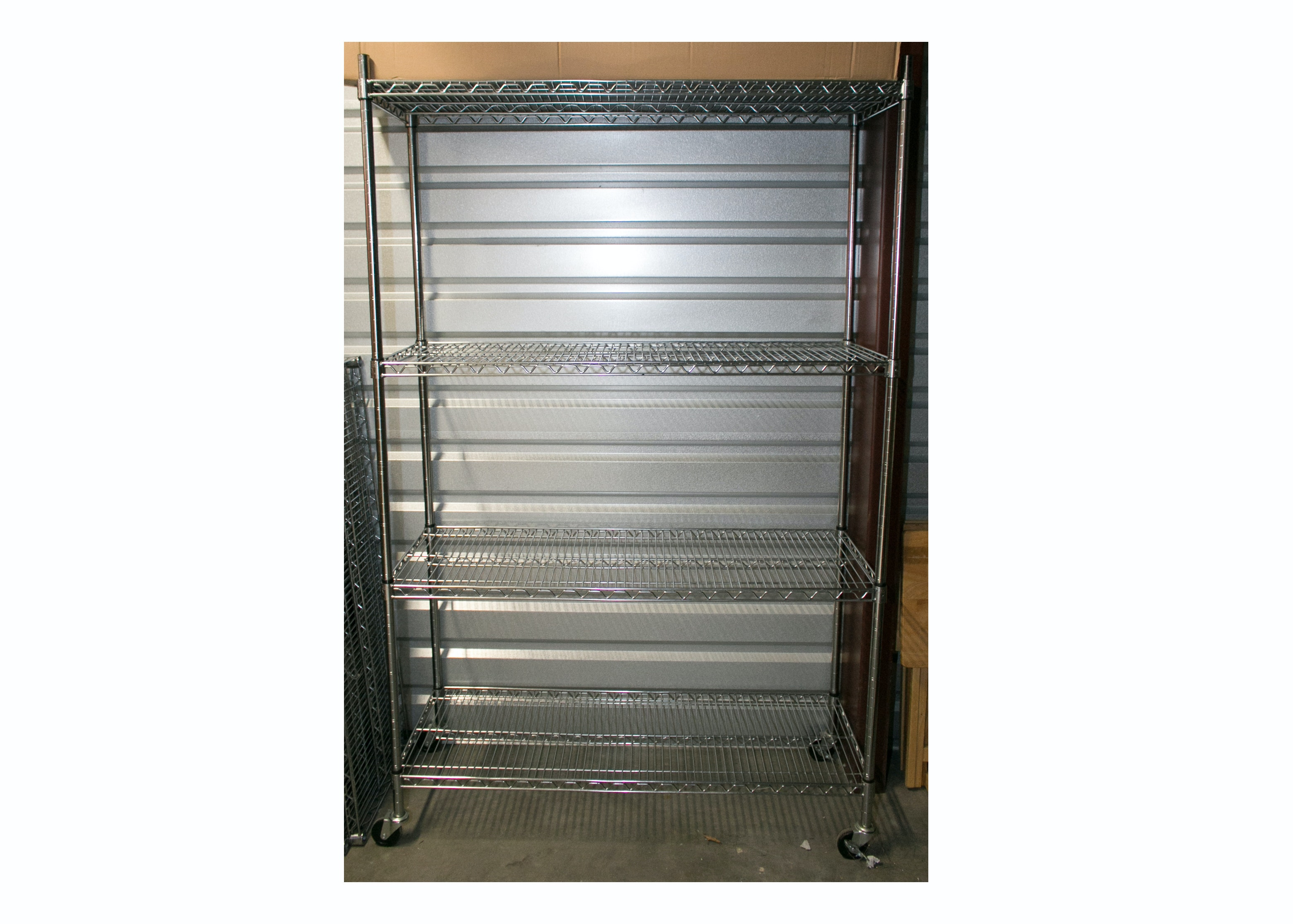 Wire Shelving Unit with Locking Casters by Seville Classics Inc.