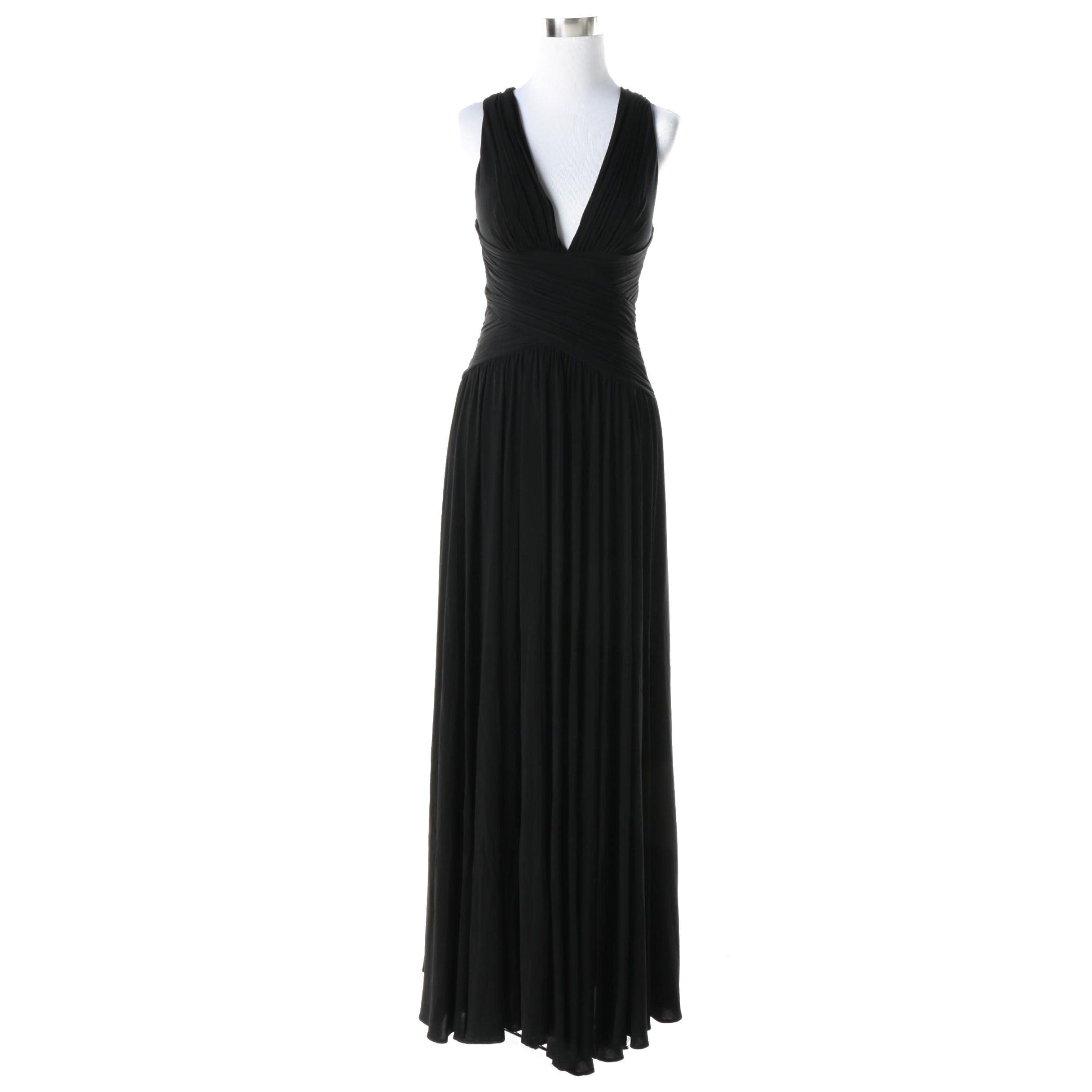 BCBG MaxAzria Black Sleeveless Evening Gown