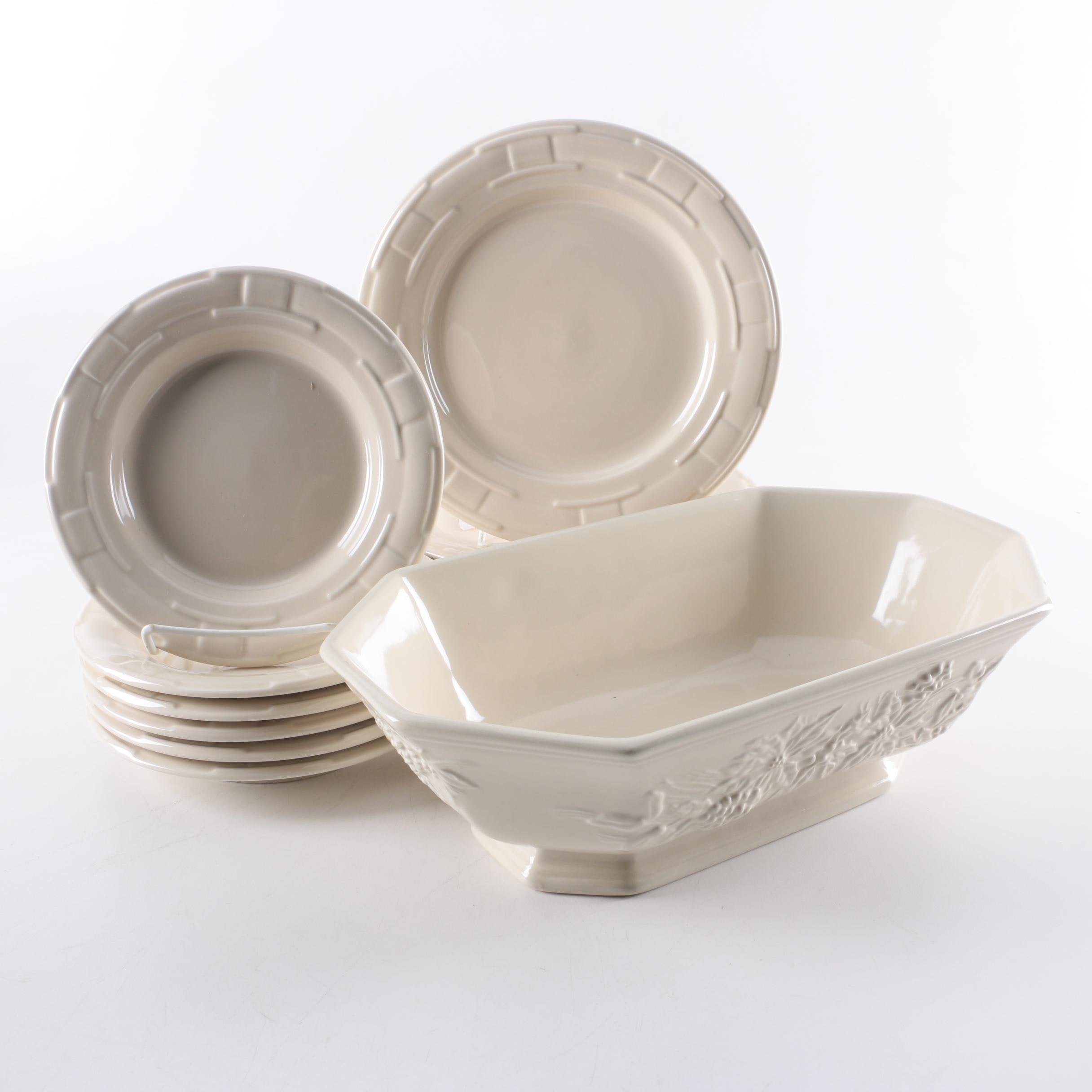 Longaberger Pottery  Woven Traditions Ivory  ...  sc 1 st  EBTH.com & Longaberger Pottery