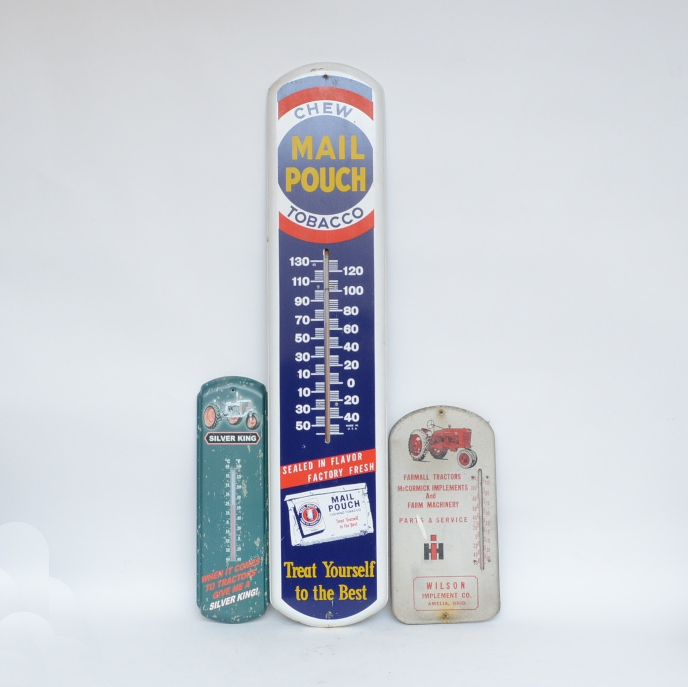 Antique and Reproduction Advertising Metal Wall Thermometers