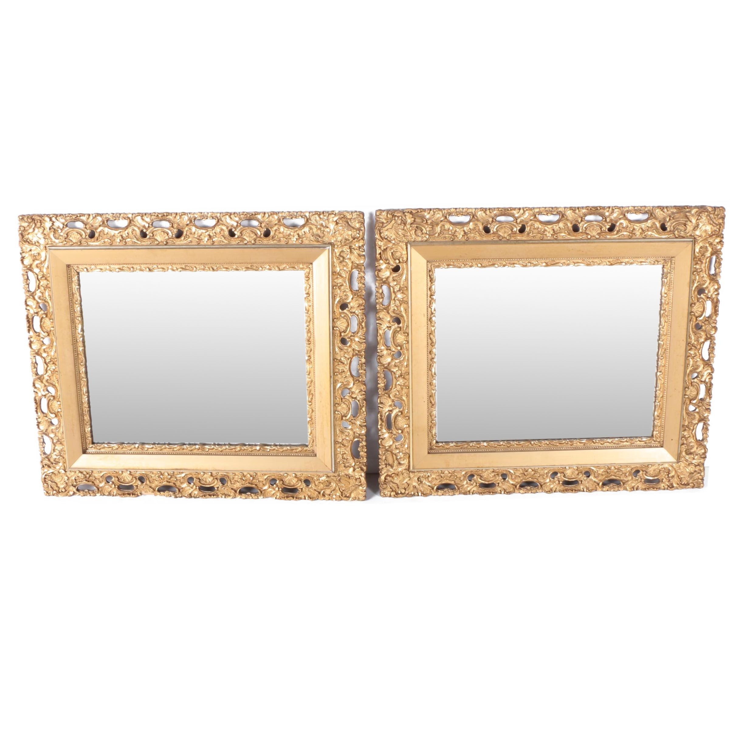 Pair of Gilt Wall Mirrors