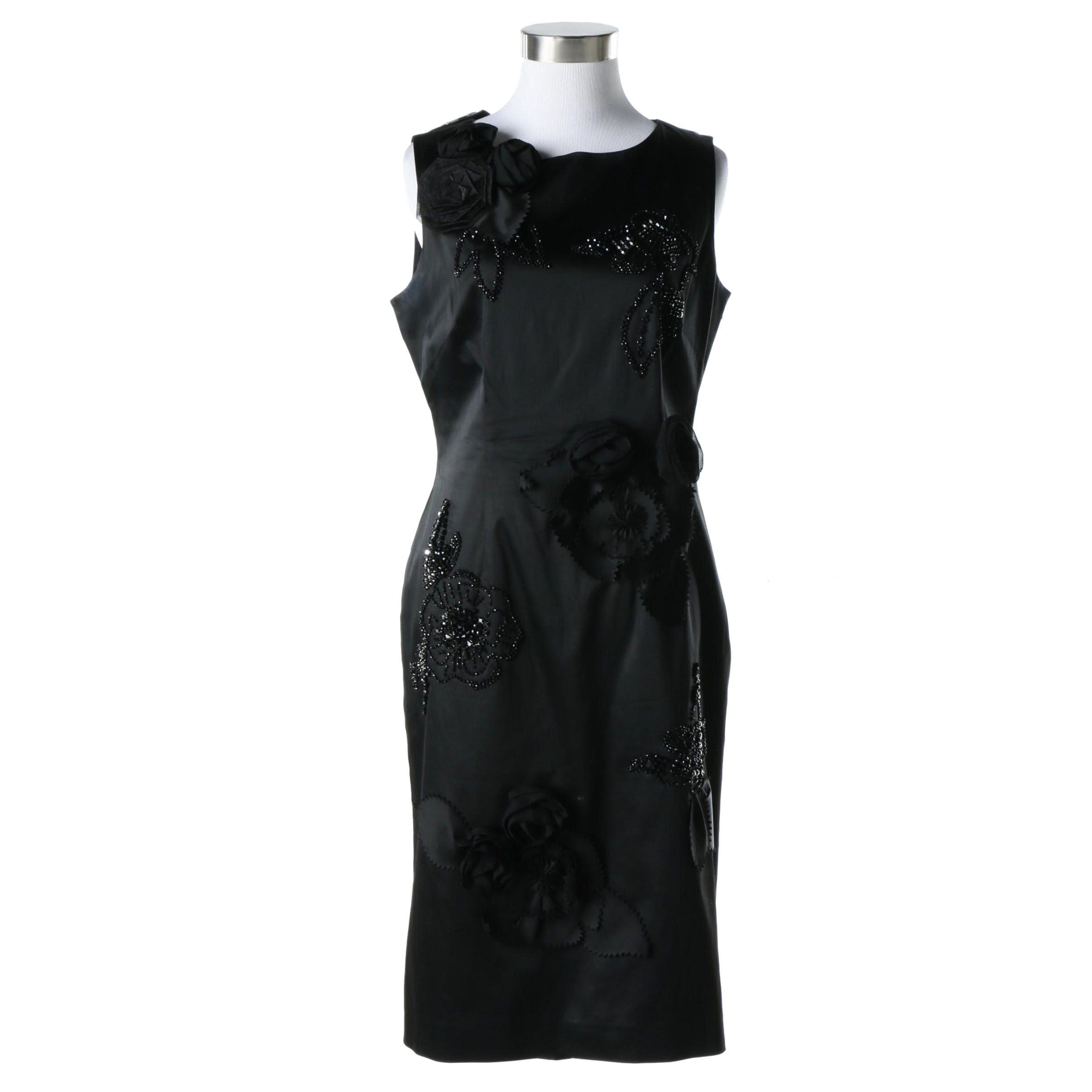 Coast Embellished Sleeveless Sheath Dress