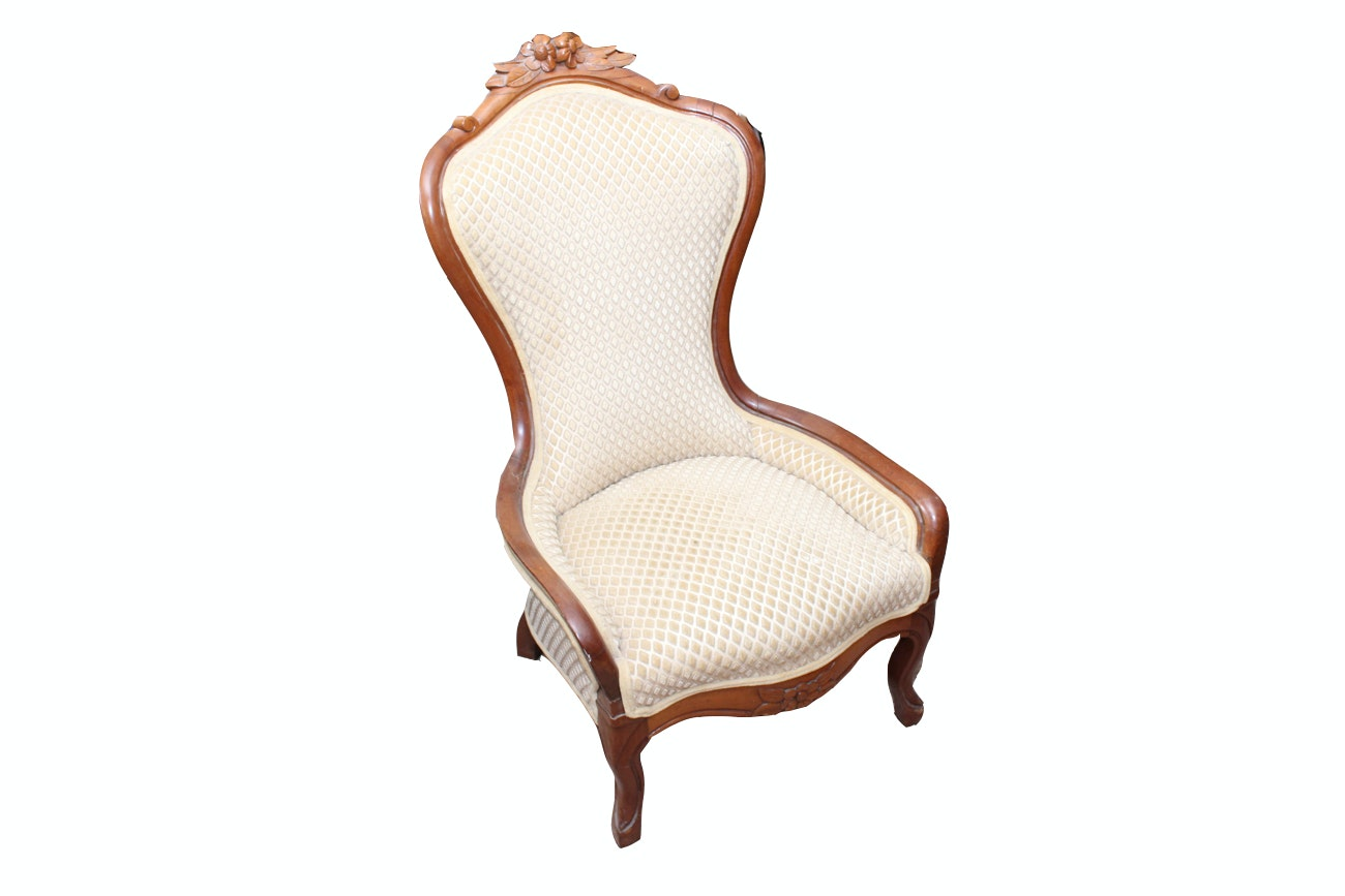 Antique Revival Style Lounge Chair
