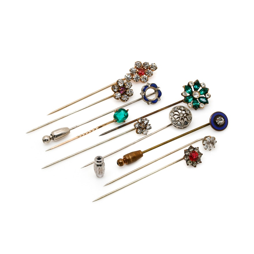 4c5470fd3 Vintage and Antique Stick Pin Collection : EBTH