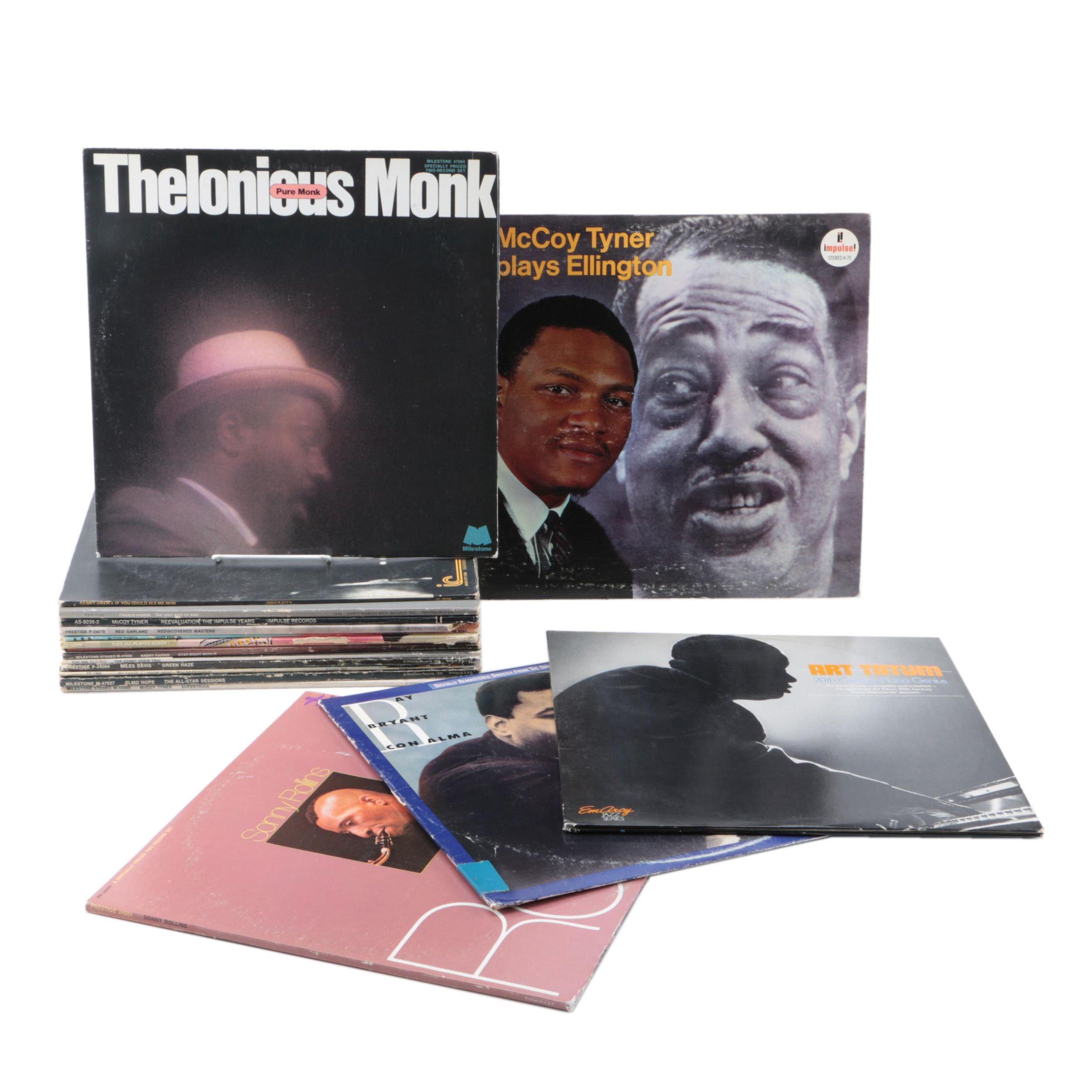 Vintage Jazz Records Featuring Miles Davis, Oscar Peterson, Charlie Parker