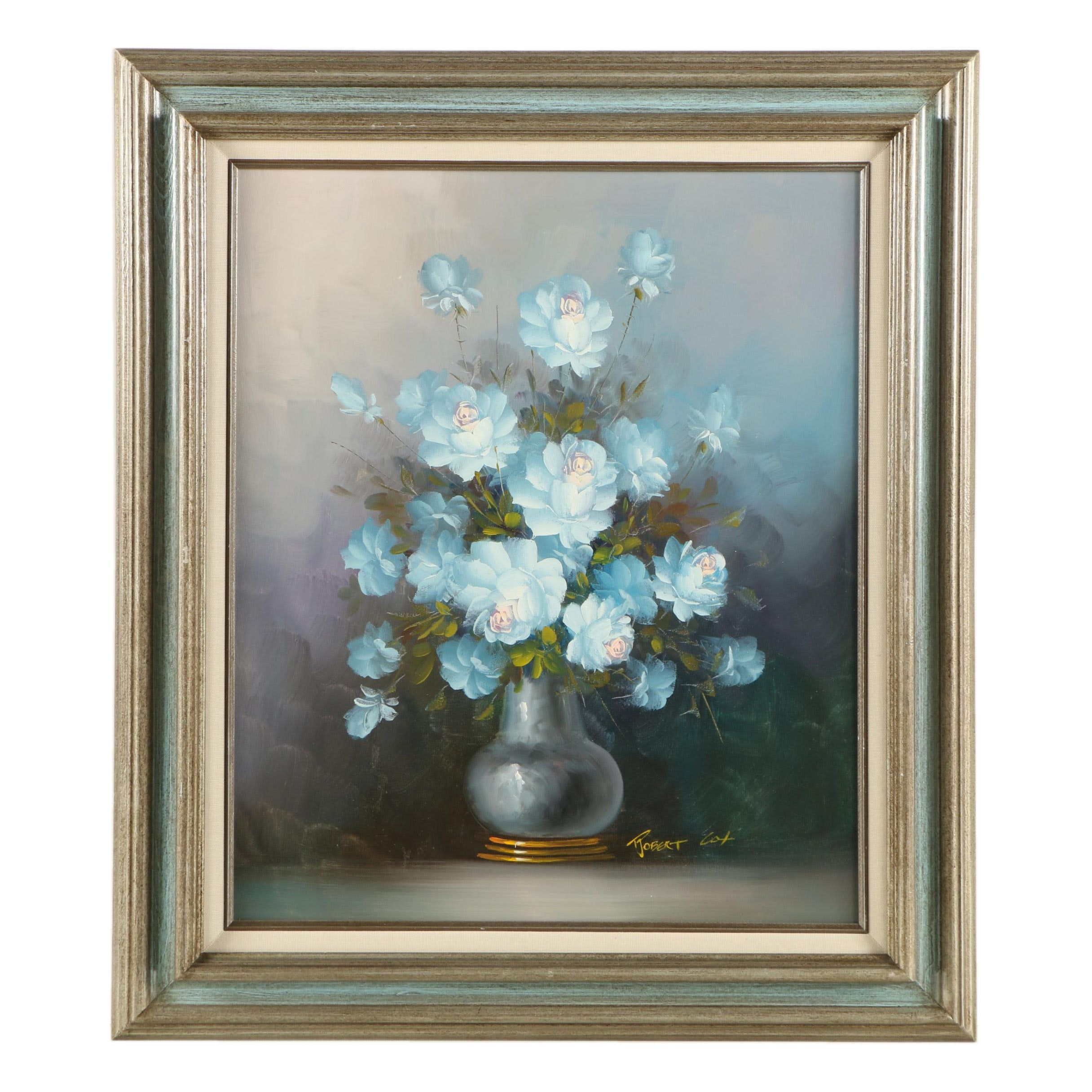 Robert Cox Oil Painting Floral Still Life