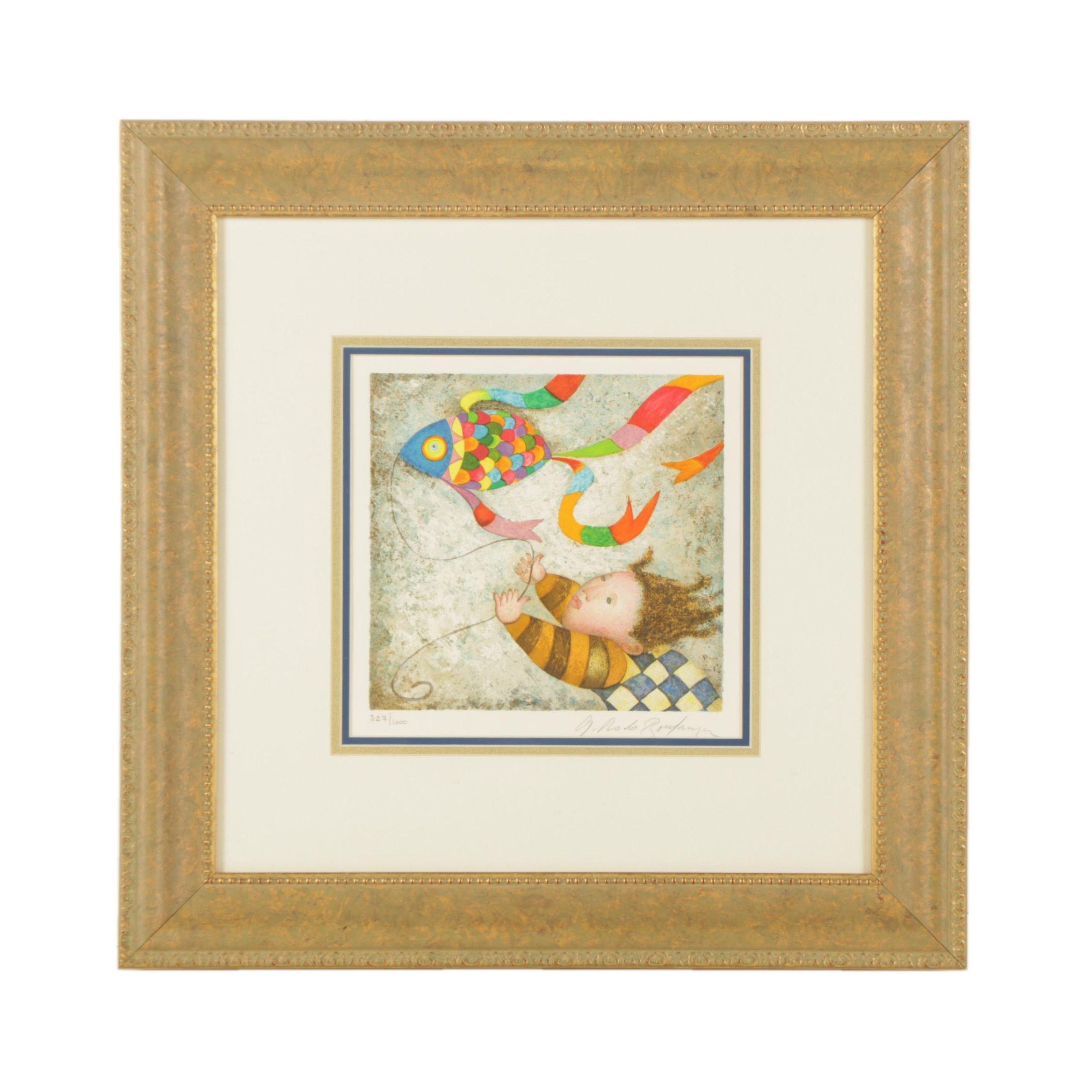 """Graciela Rodo Boulanger Limited Edition Lithograph """"Les Belles Annees"""""""