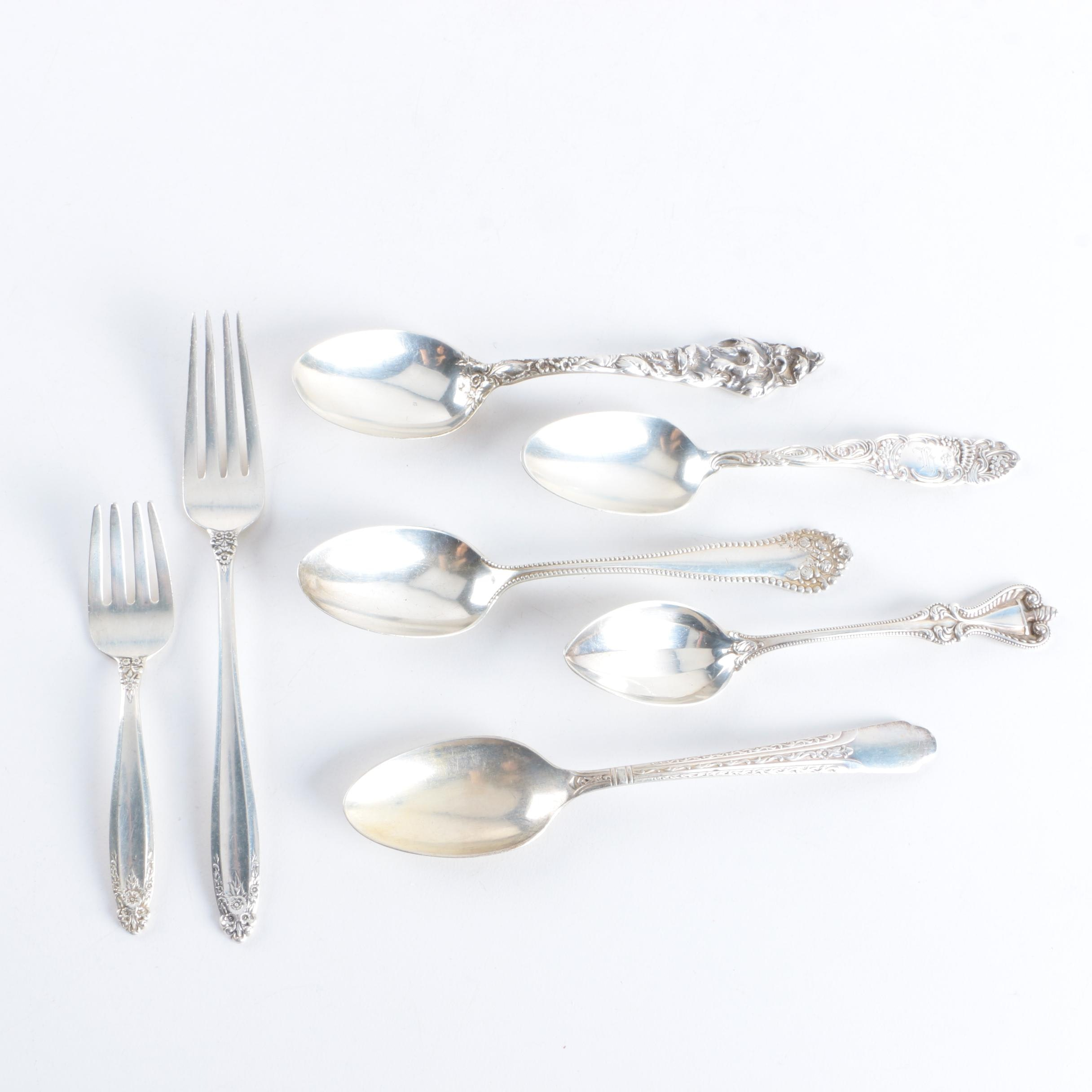 """Towle """"Princess"""" Sterling Silver Spoon and Assorted Sterling Silver Flatware"""