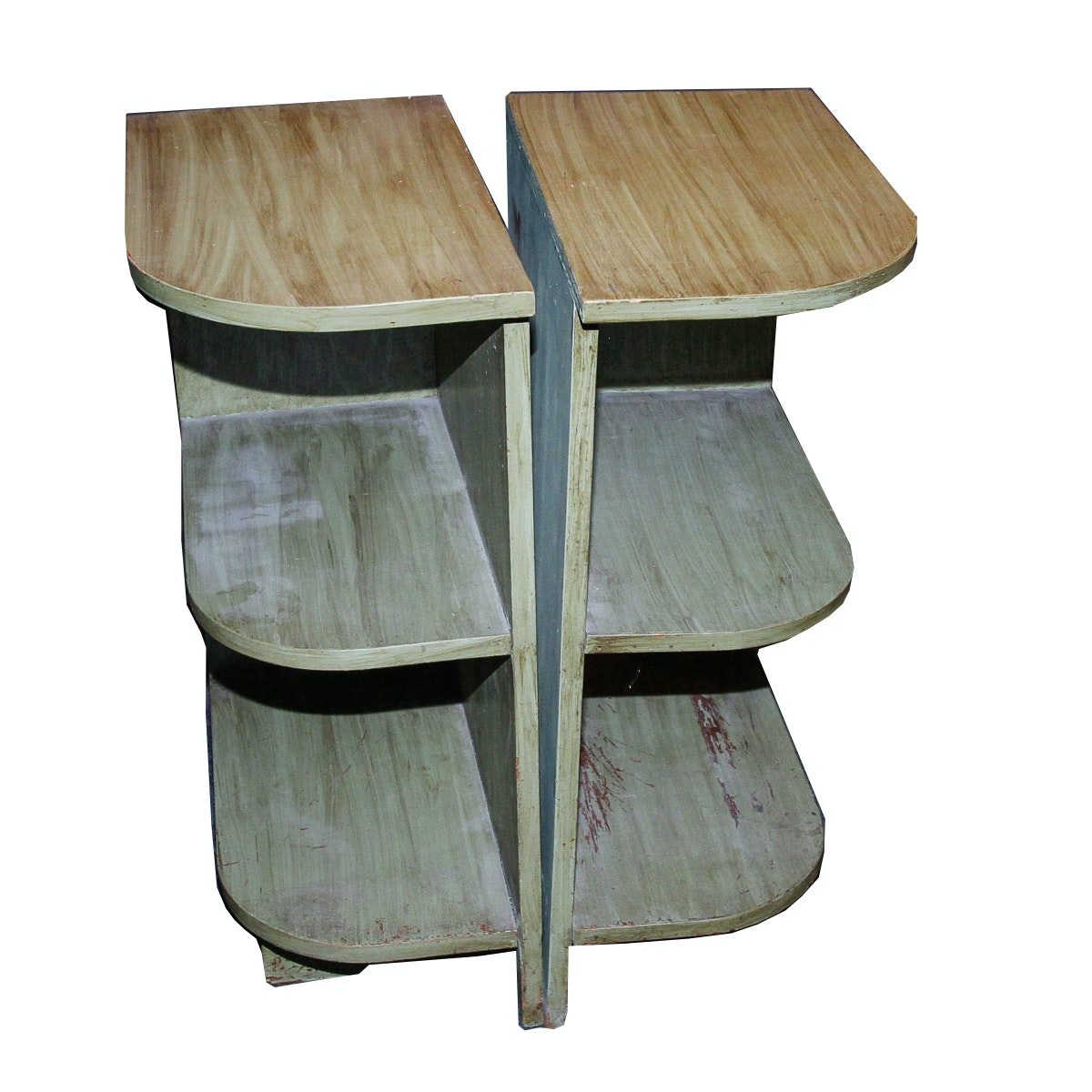 Pair of Shelf End Tables