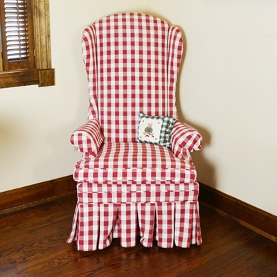 High Wingback Upholstered Chair