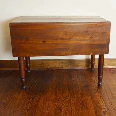 Drop Leaf Mahogany Stained Table
