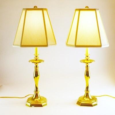 Baldwin Brass Candlestick Table Lamps ...