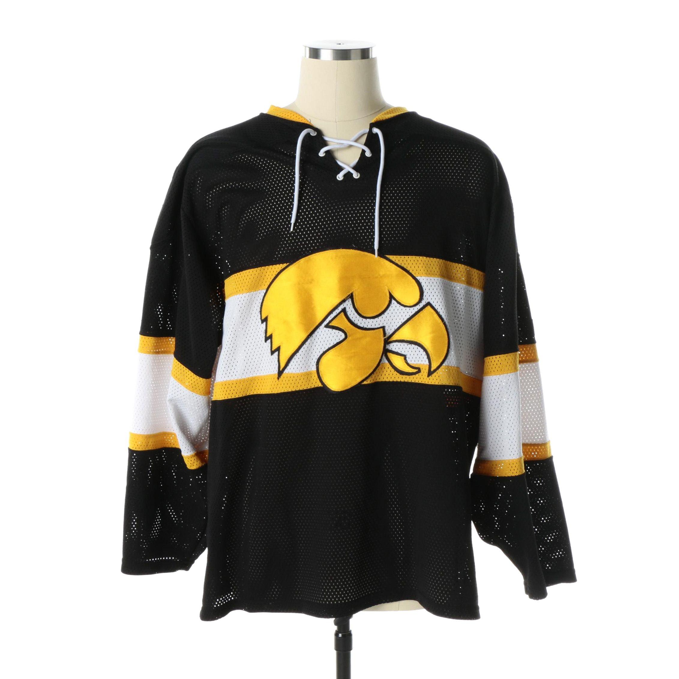 Size XXL Iowa Hawkeyes Hockey Jersey