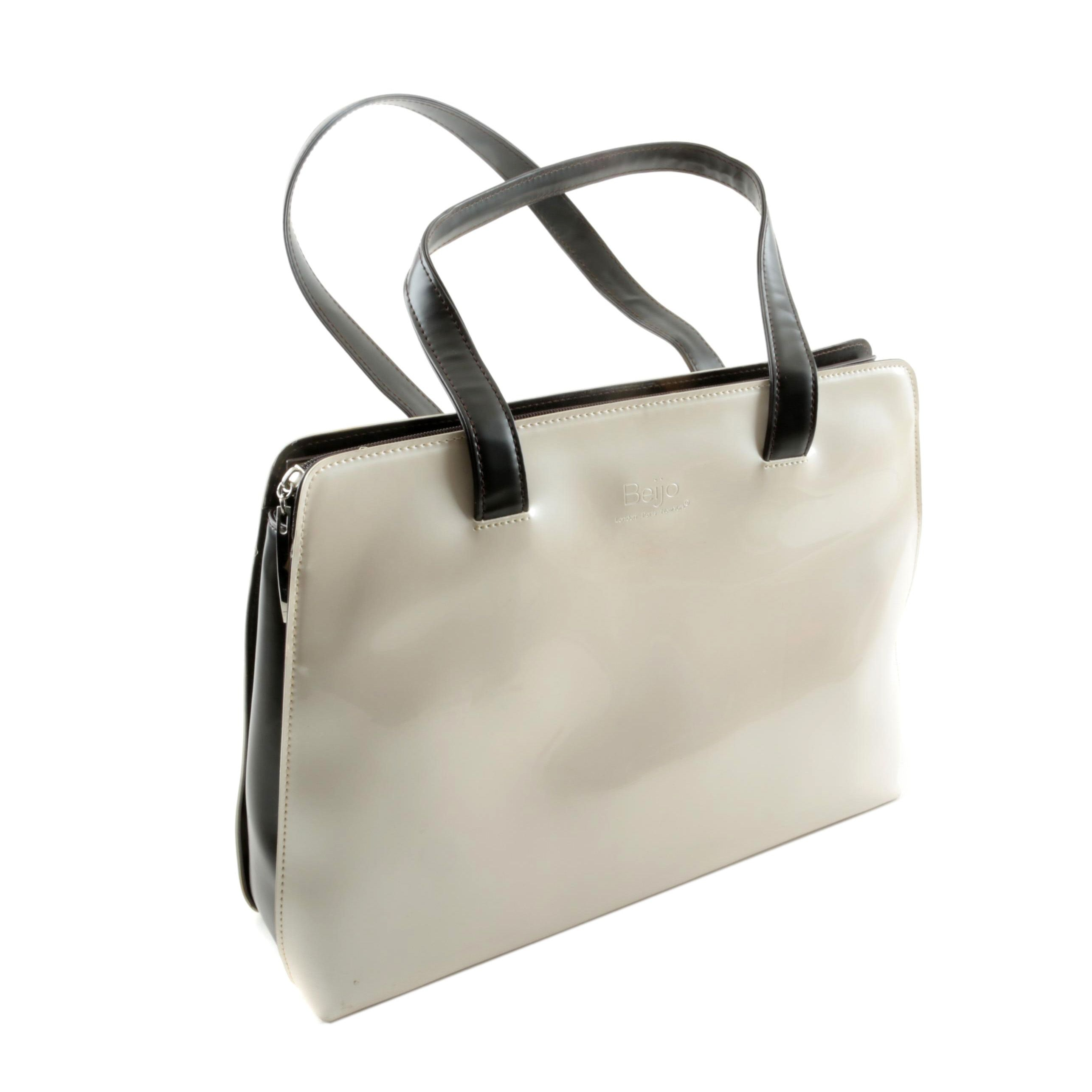 Beijo Faux Patent Leather Tote Bag