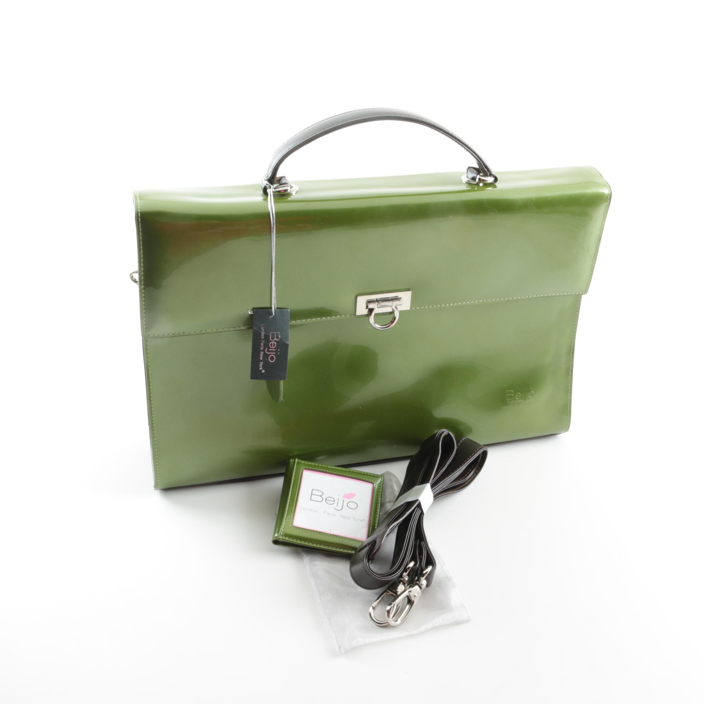 Beijo Avocado Colored Briefcase