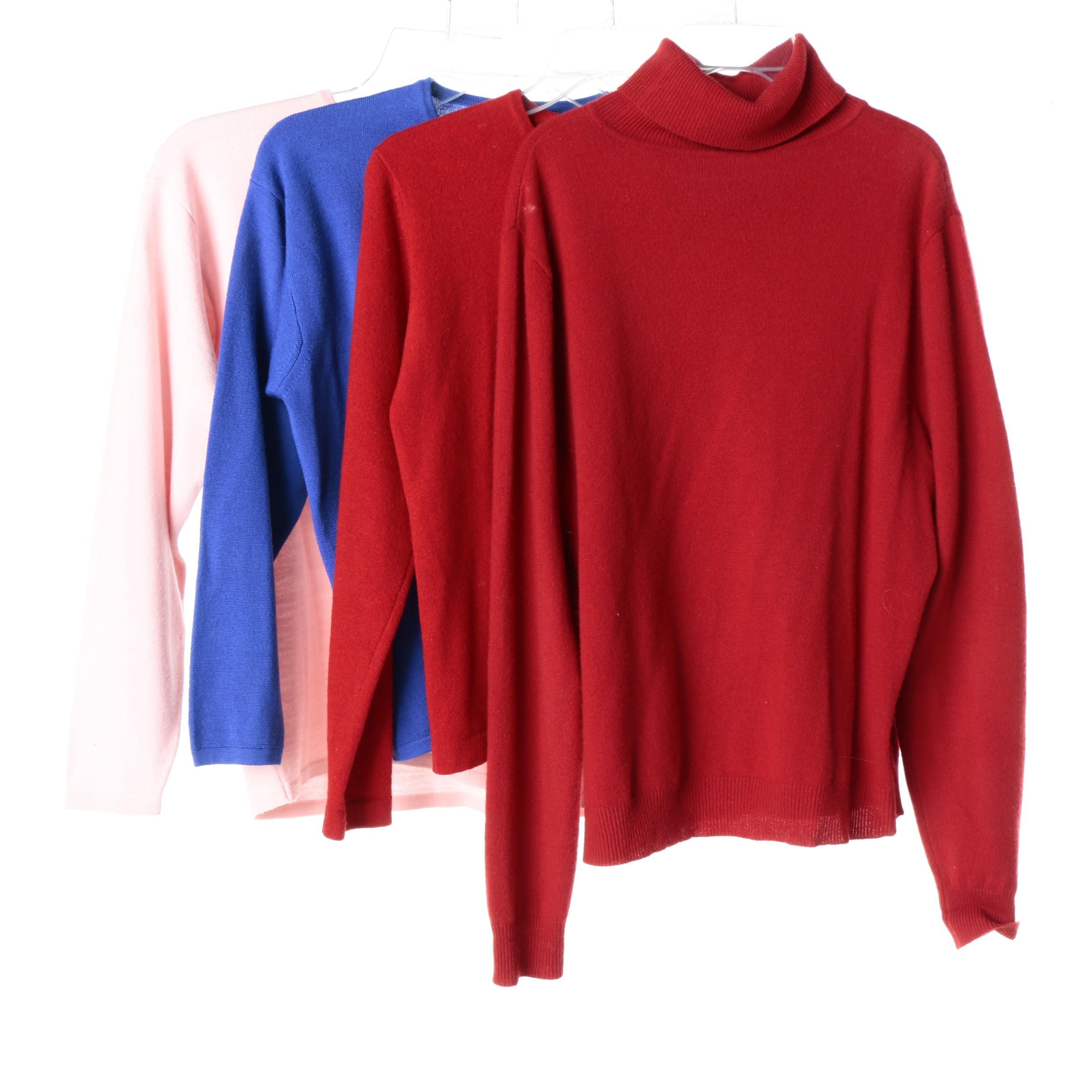 Women's Wool and Cashmere Sweaters Including Henri Bendel