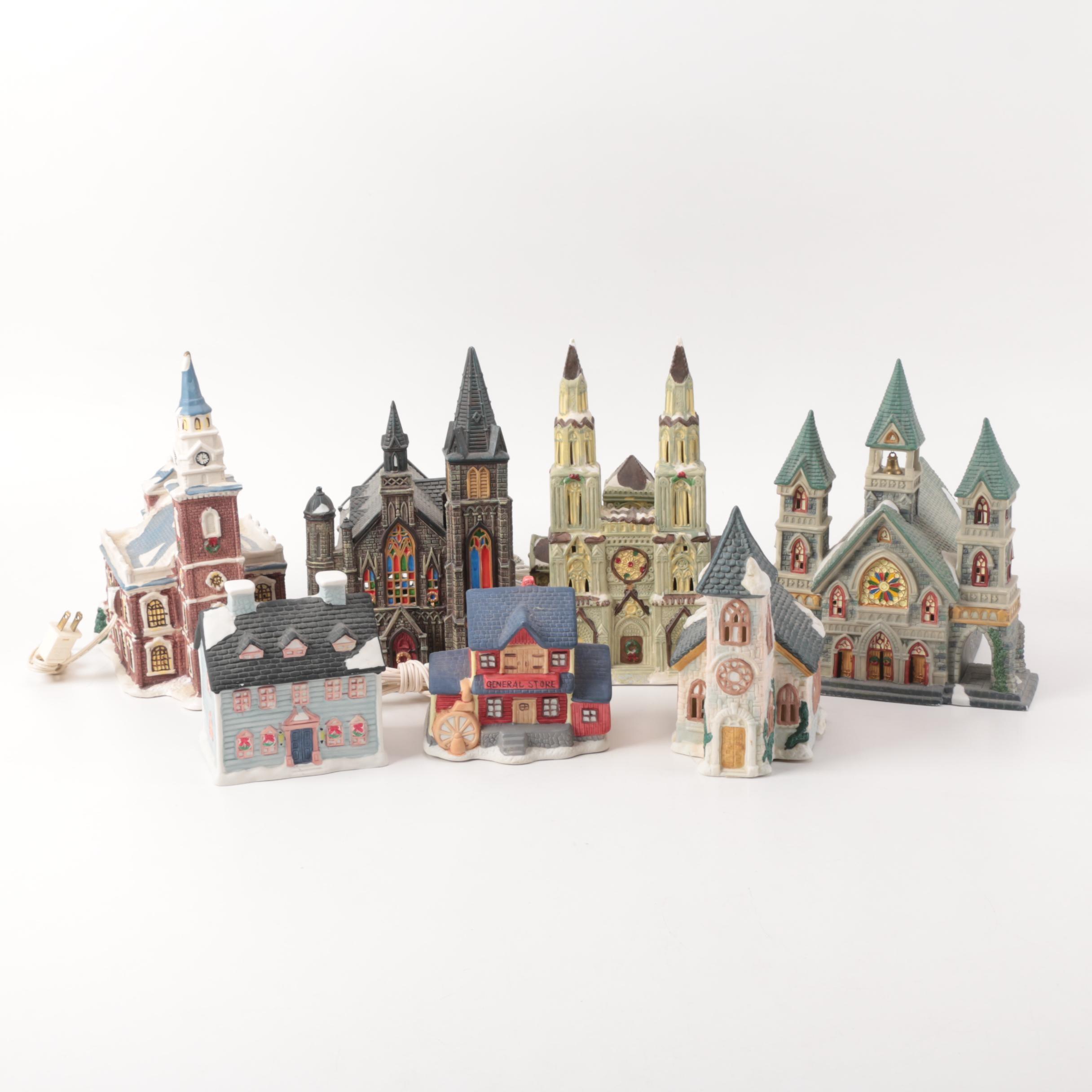 Lighted Christmas Ceramic Figurines
