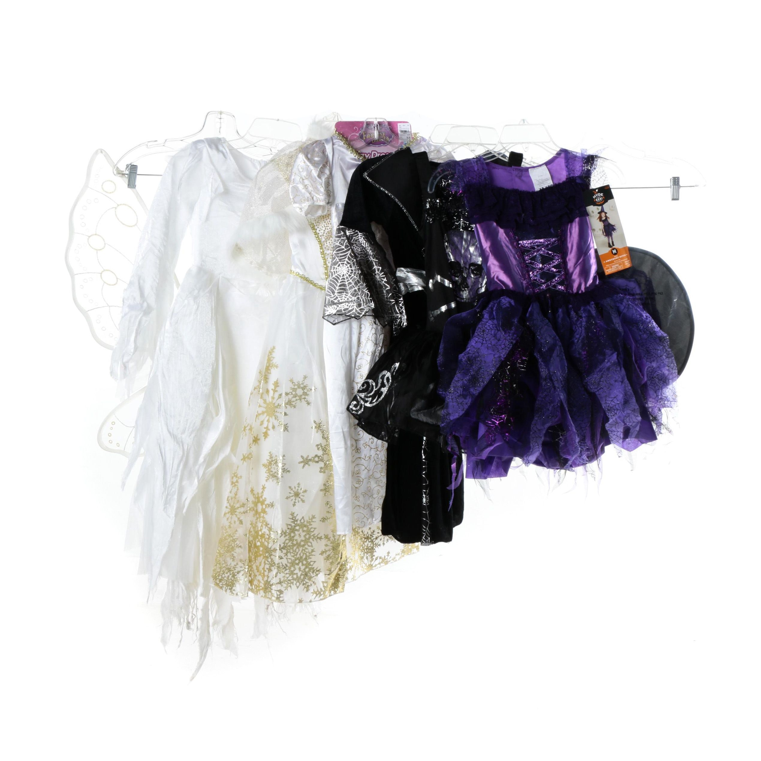 Girls' Costumes Including Fantasy Dress-Up, Snow Queen and Amethyst Witch
