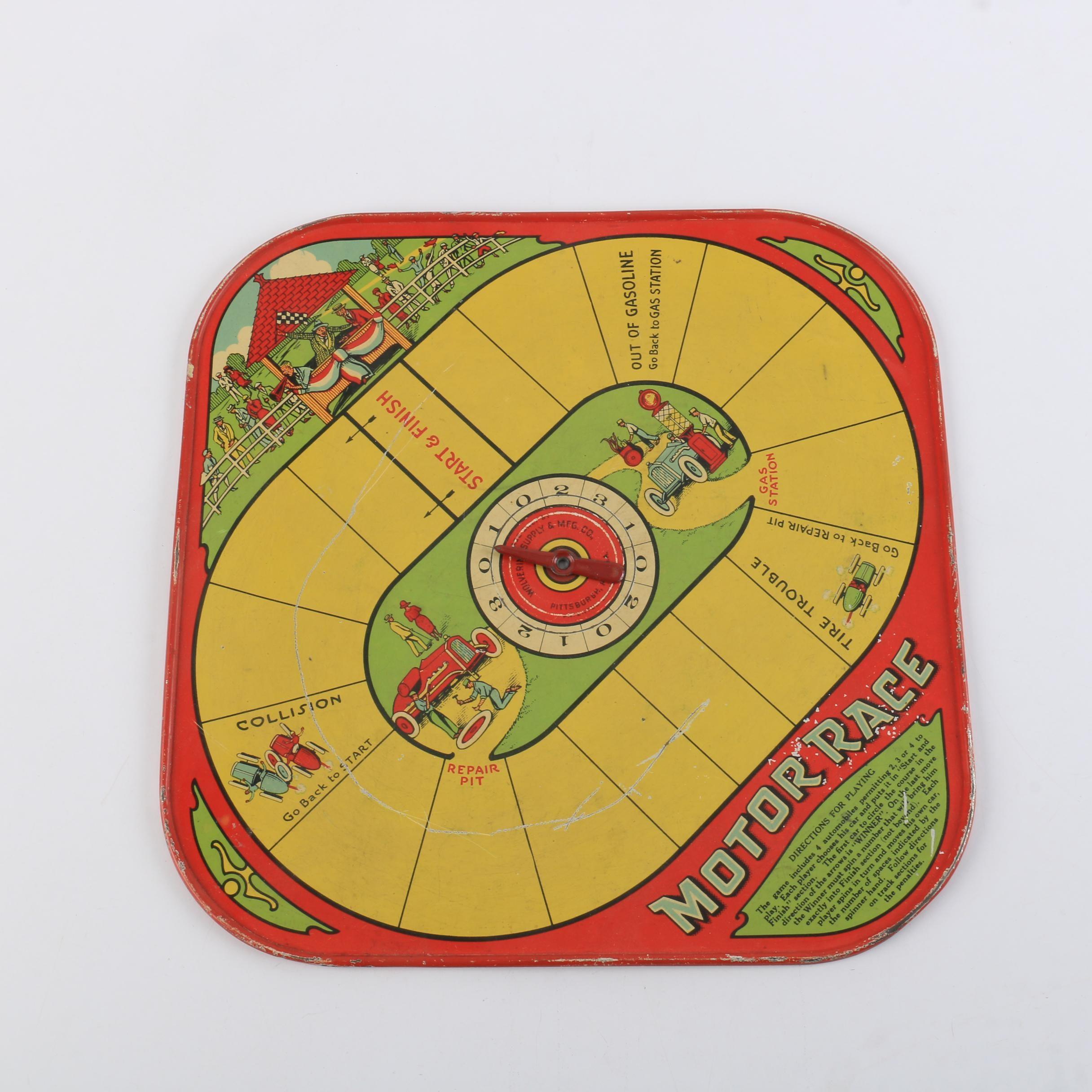 "Wolverine ""Motor Race"" Board Game"