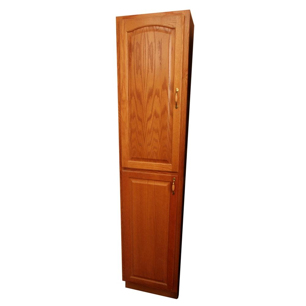 Tall Oak Storage Cabinet