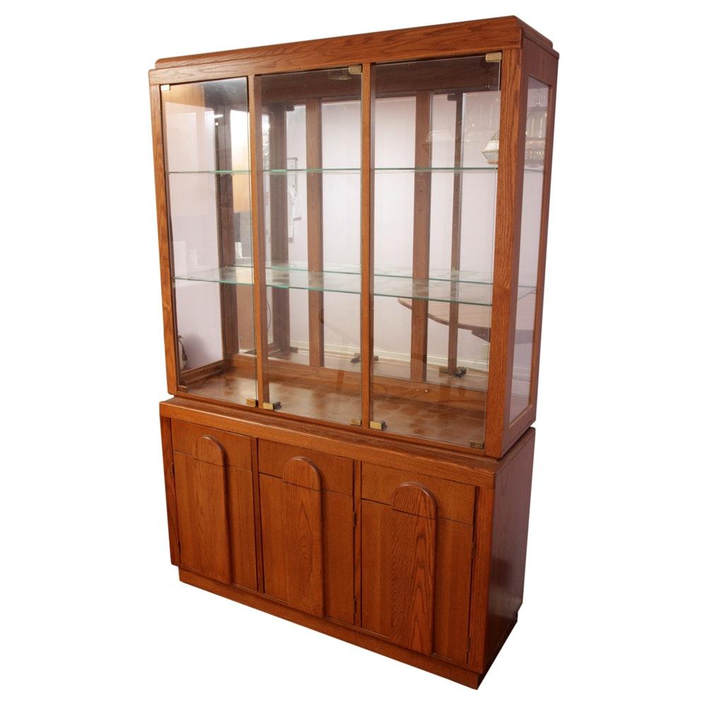 Broyhill Oak China Cabinet